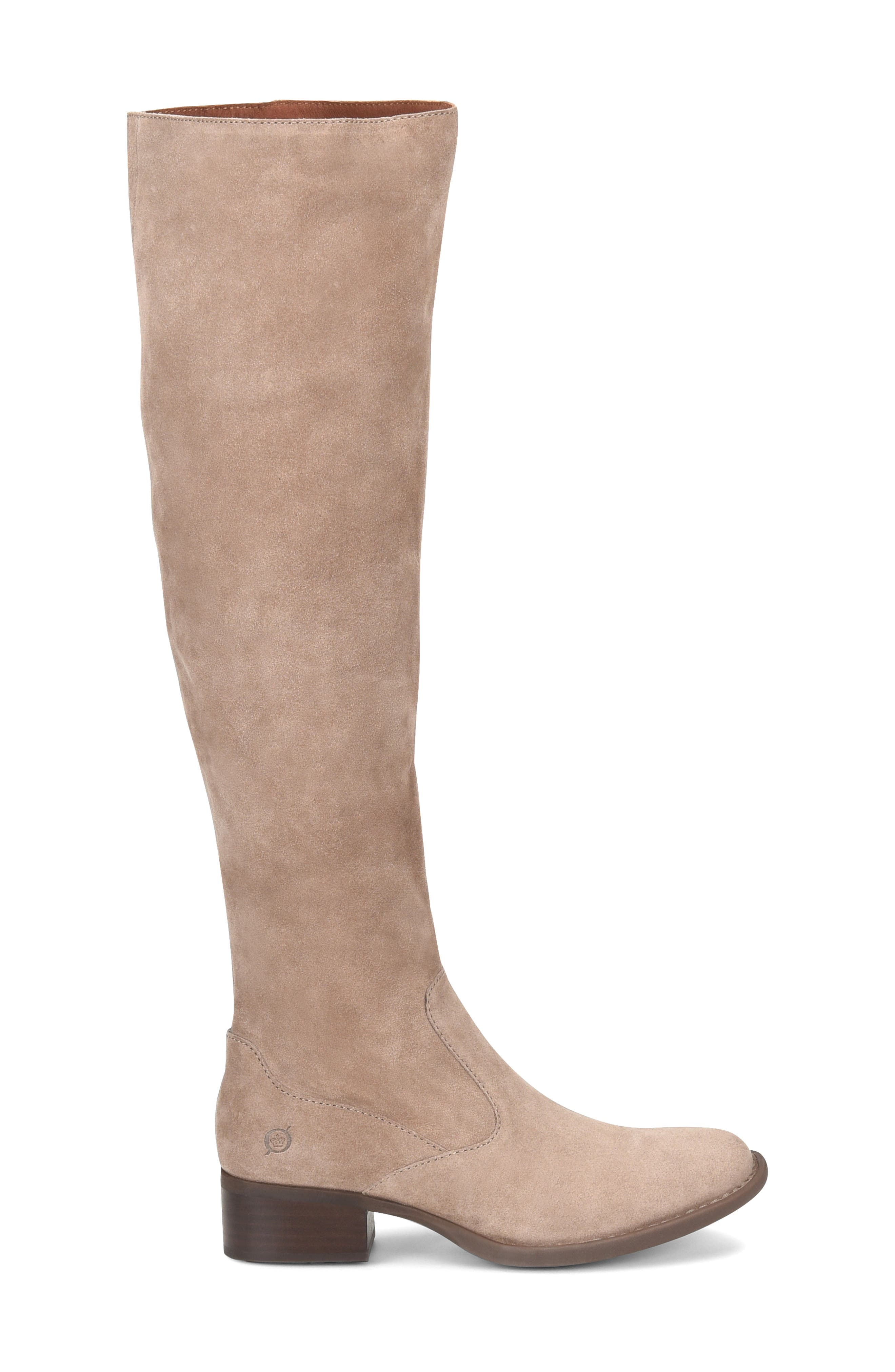 Cricket Over the Knee Boot,                             Alternate thumbnail 3, color,                             TAUPE SUEDE