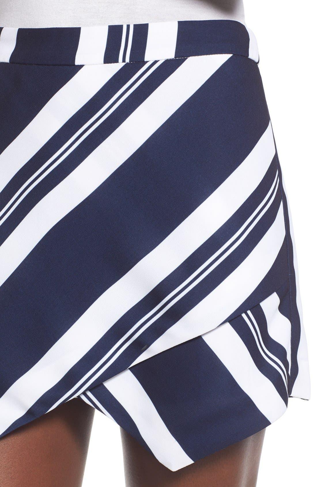Stripe Wrap Skort,                             Alternate thumbnail 3, color,                             400
