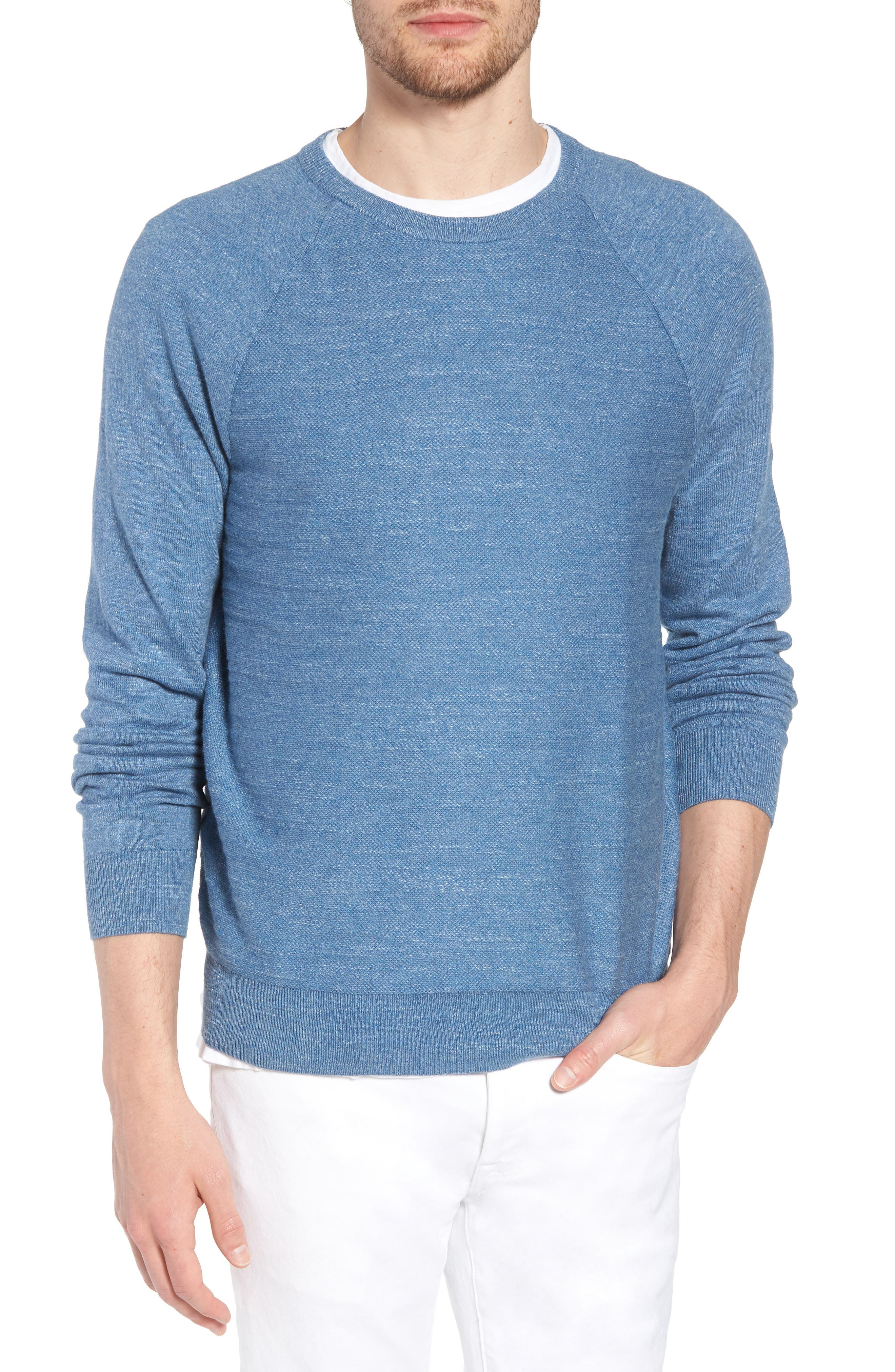 Slim Rugged Cotton Sweater,                             Main thumbnail 4, color,