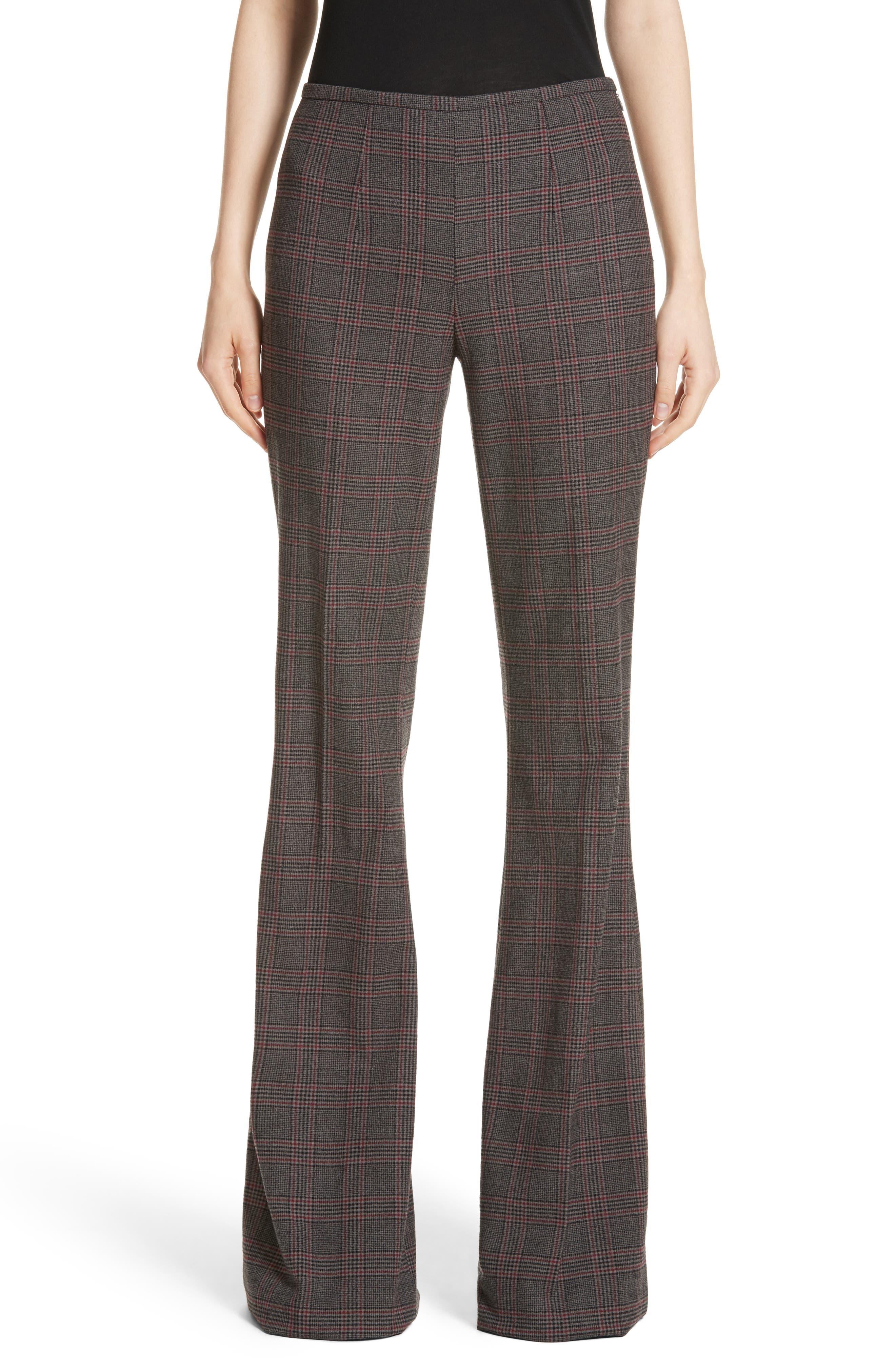 MICHAEL KORS,                             Plaid Stretch Wool Flannel Pants,                             Main thumbnail 1, color,                             034