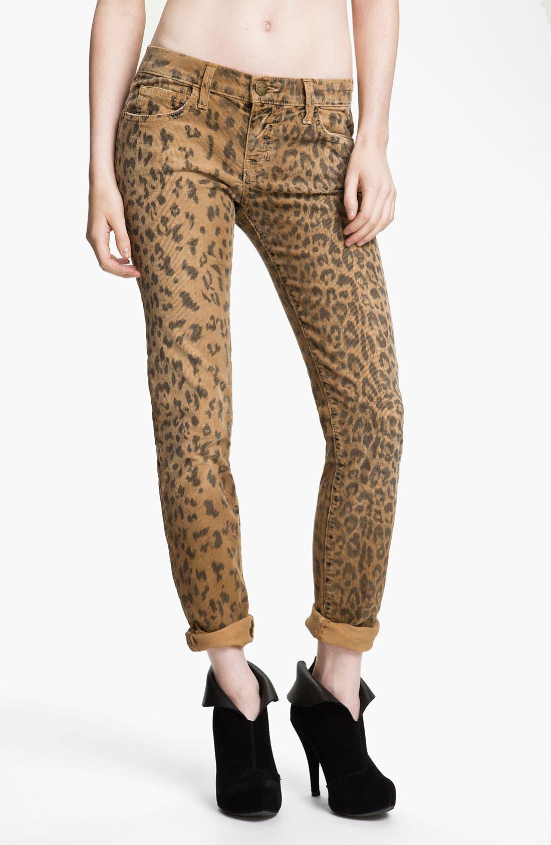 Print Stretch Corduroy Pants, Main, color, 250