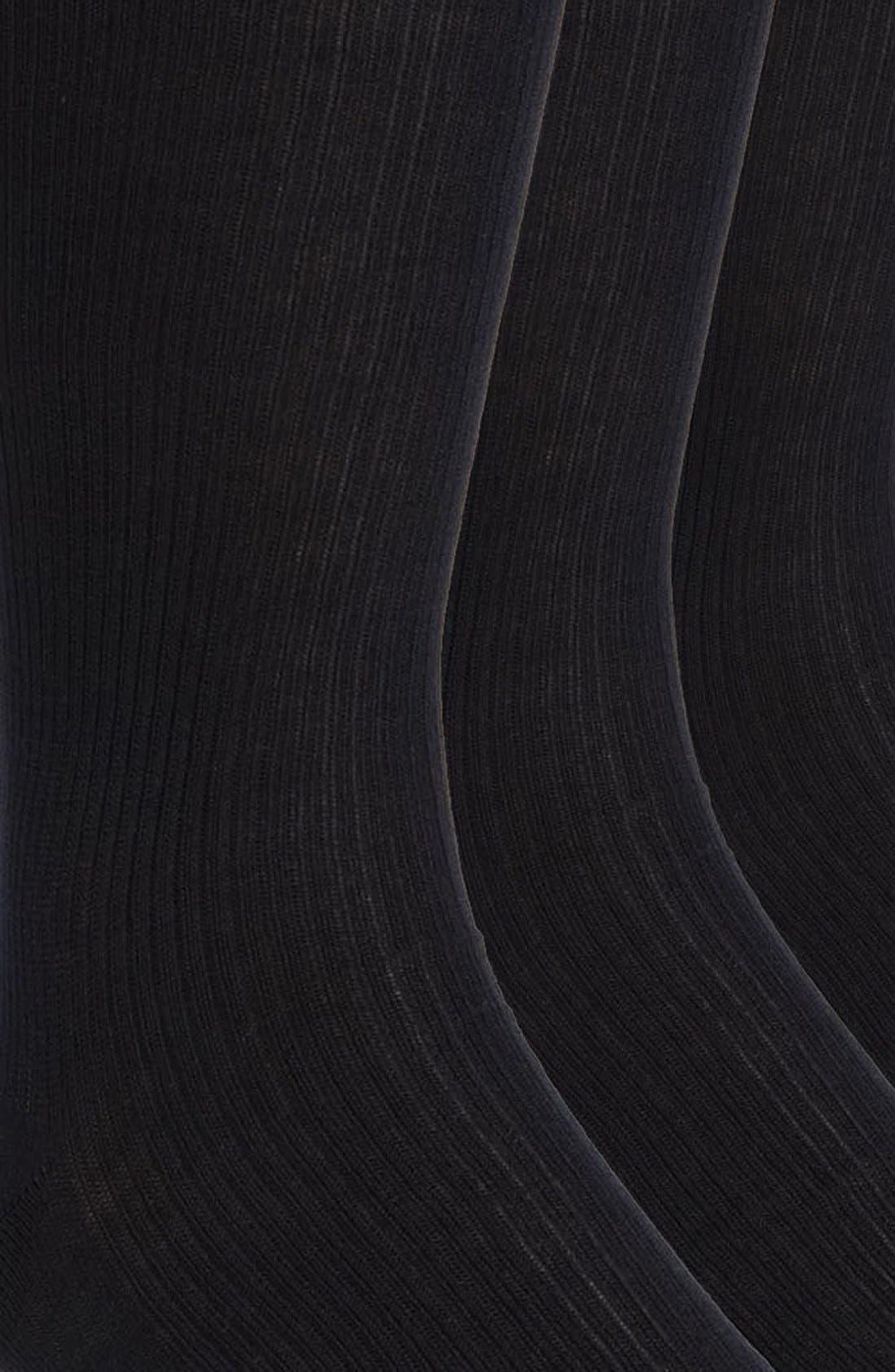 Cotton Blend Dress Socks,                             Alternate thumbnail 4, color,                             NAVY