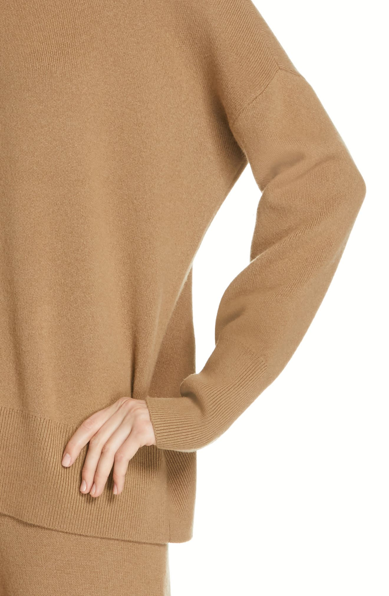 Relaxed Drop Shoulder Wool & Cashmere Sweater,                             Alternate thumbnail 4, color,                             280