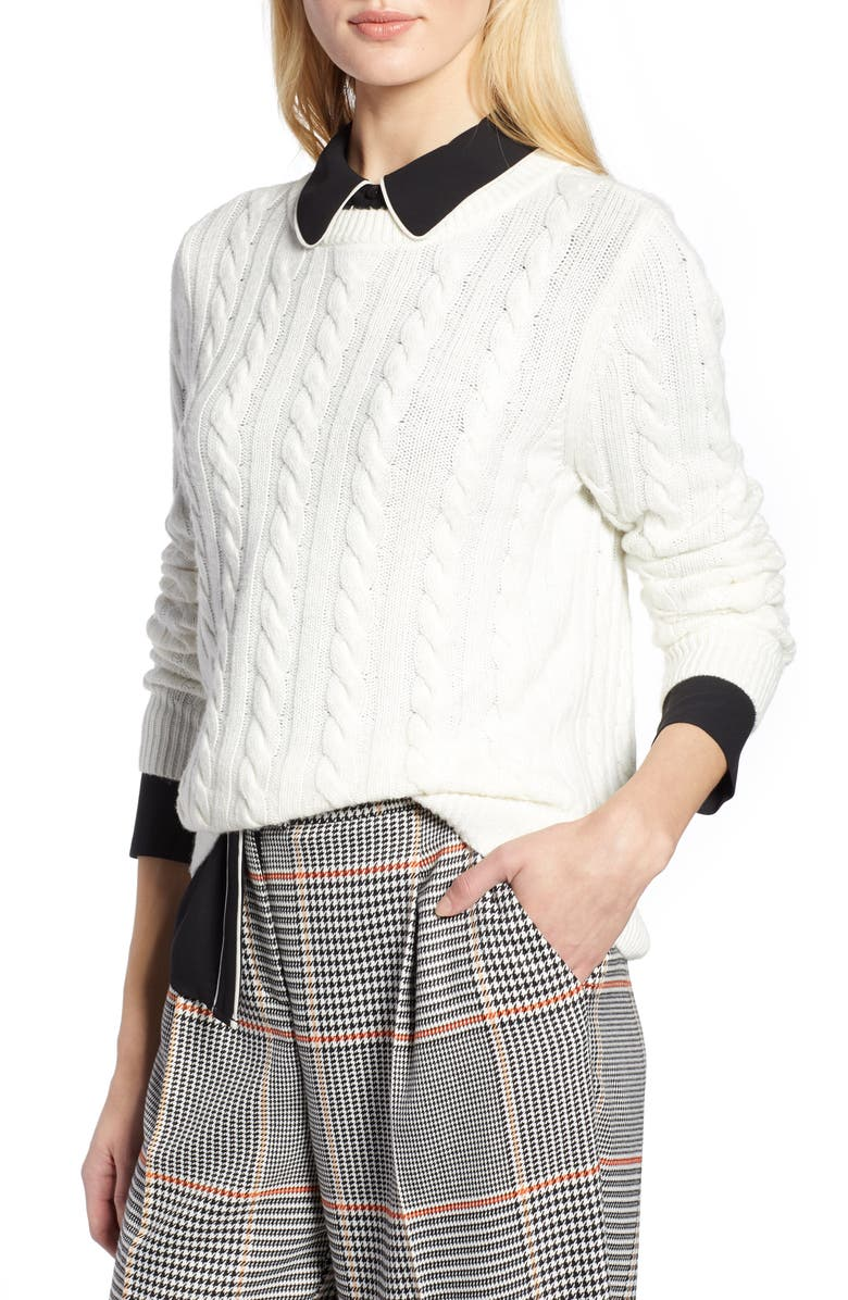 Halogen® x Atlantic-Pacific Cable Sweater | Nordstrom