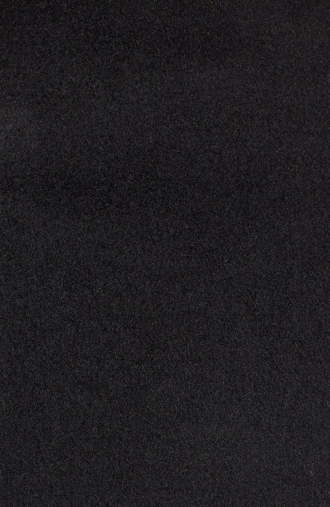 Single Breasted Wool Blend Coat,                             Alternate thumbnail 2, color,                             BLACK