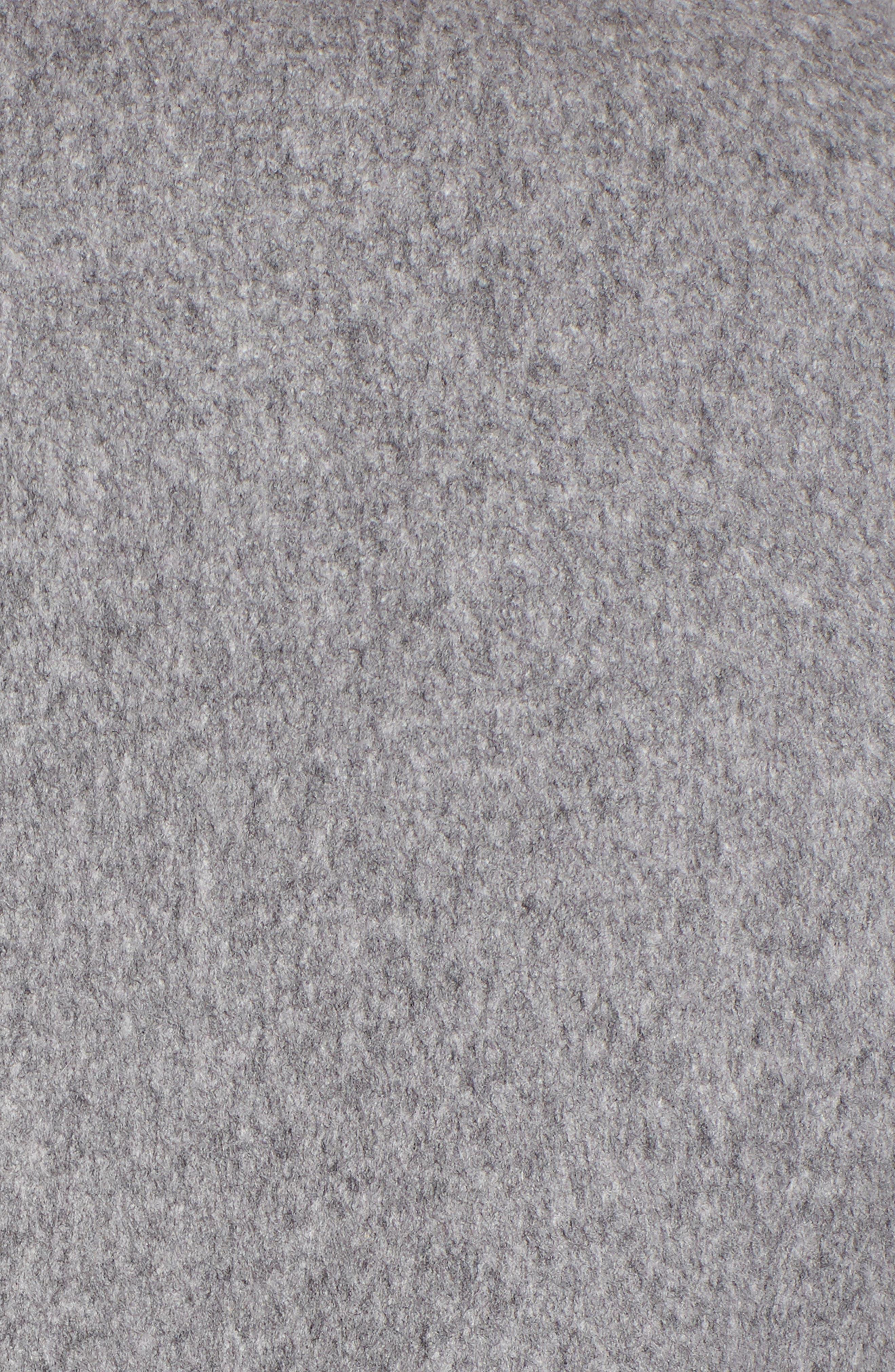 Notch Collar Wool Coat,                             Alternate thumbnail 7, color,                             GREY HEATHER