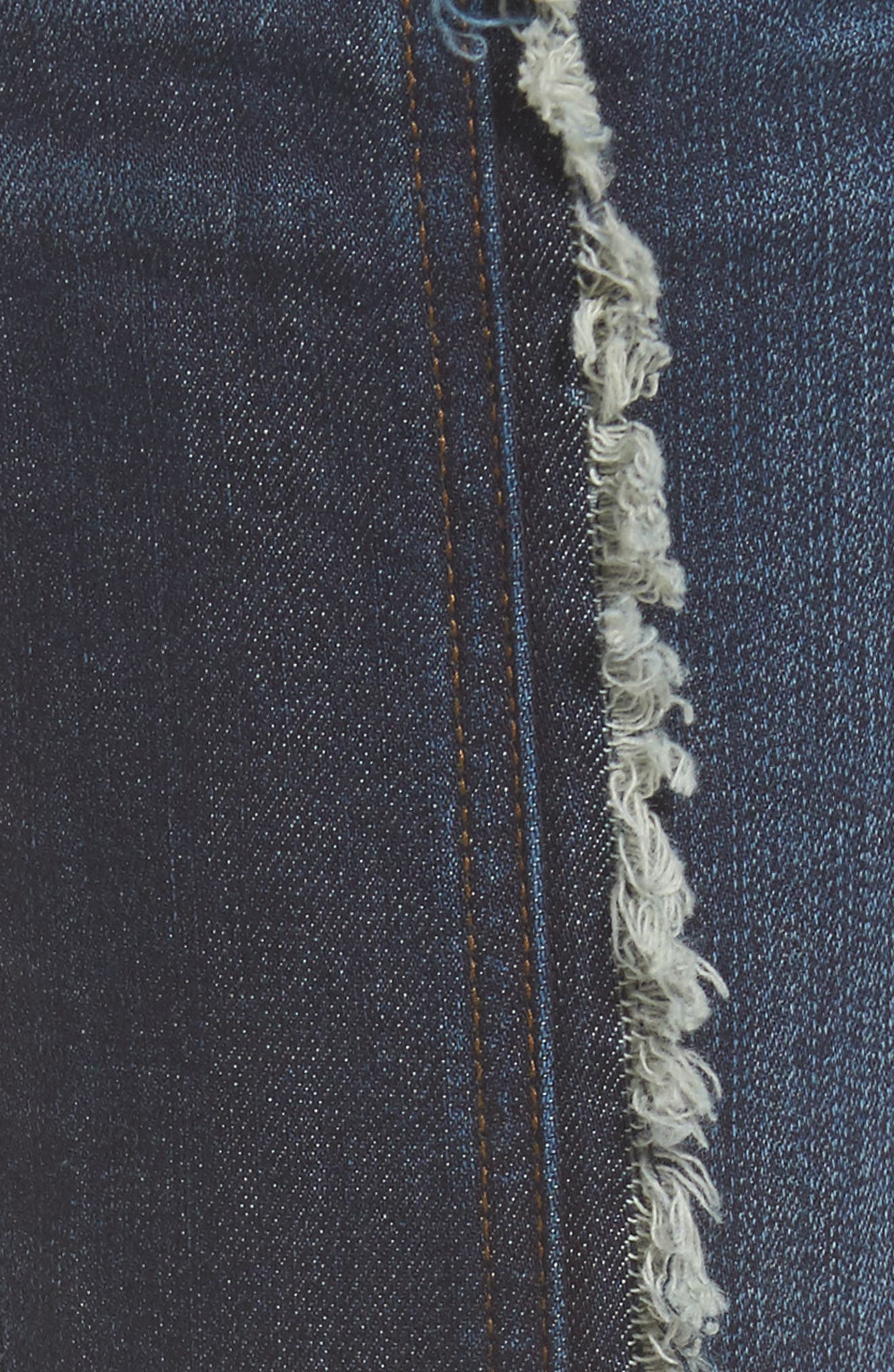 KUT FROM THE KLOTH,                             Reese Frayed Seam Ankle Straight Jeans,                             Alternate thumbnail 5, color,                             411