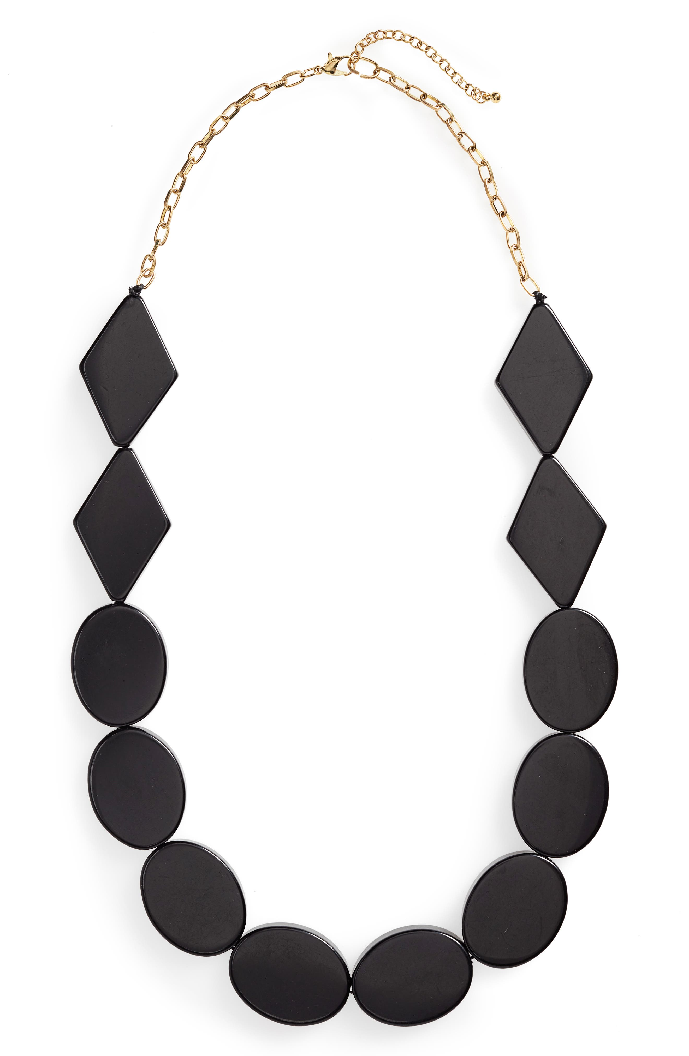 Panton Necklace,                         Main,                         color, BLACK