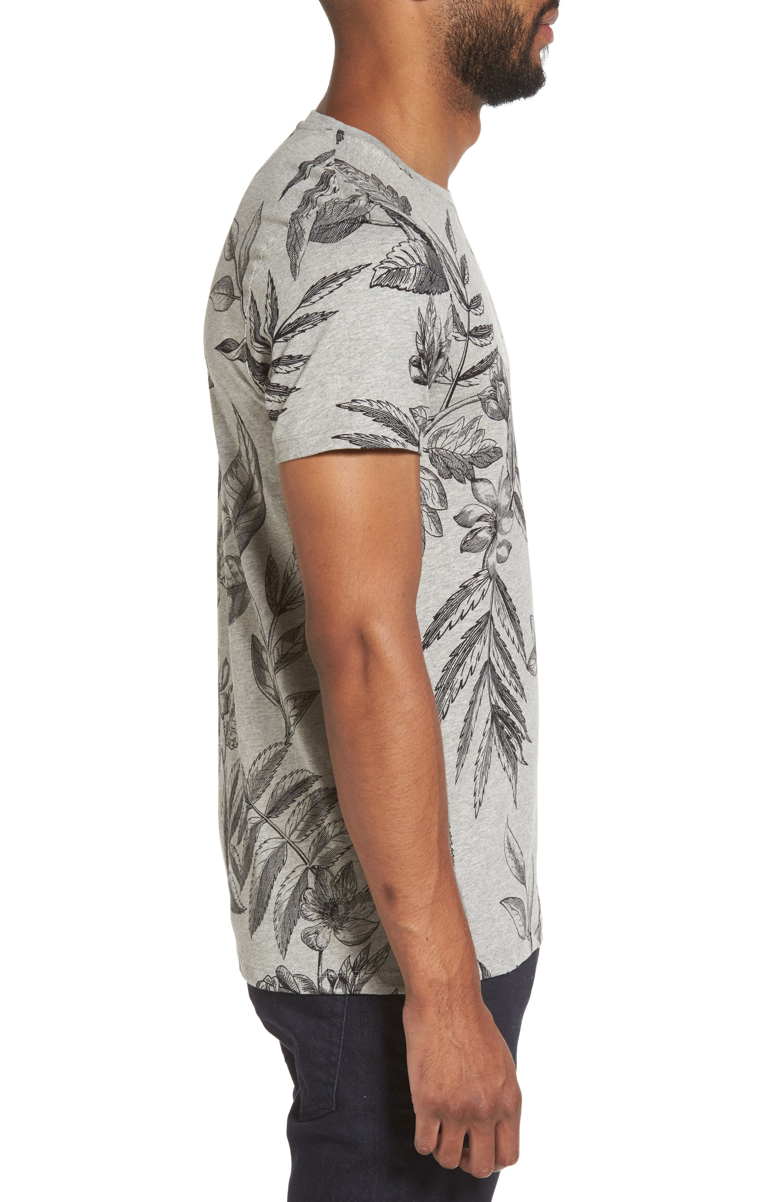 Peggi Floral Print T-Shirt,                             Alternate thumbnail 3, color,