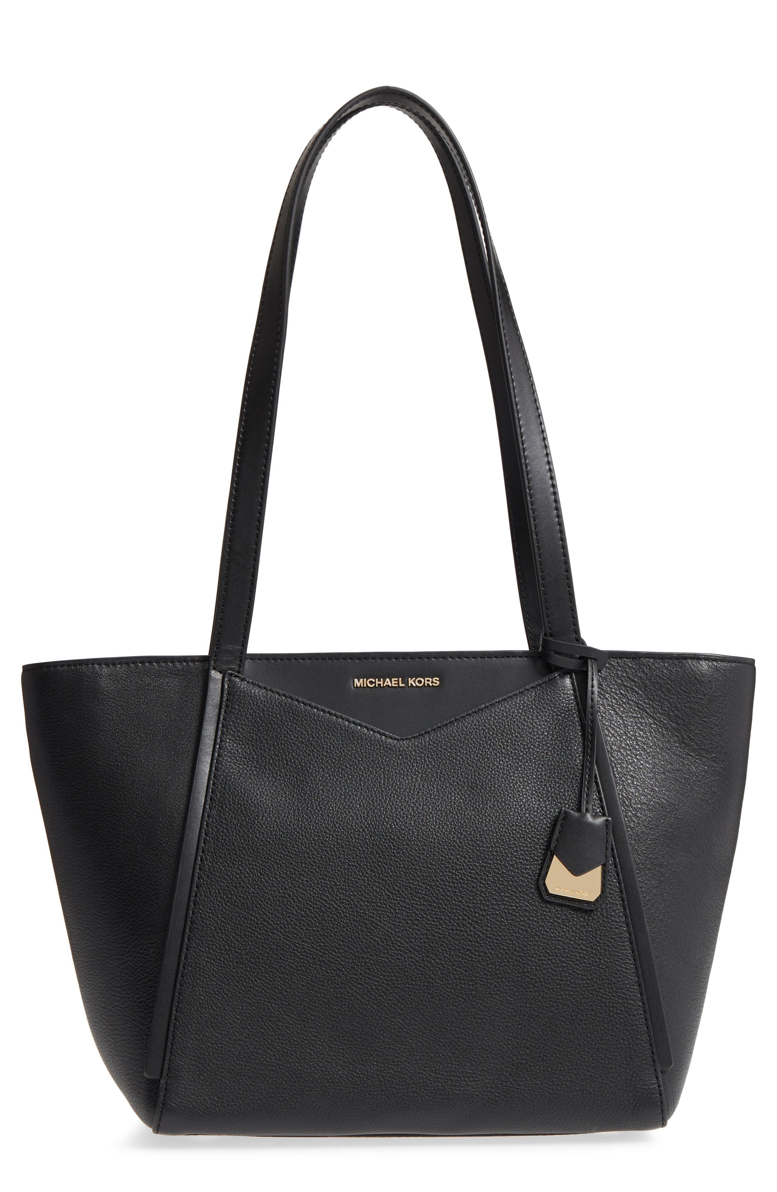 Small Whitney Leather Tote,                             Main thumbnail 2, color,