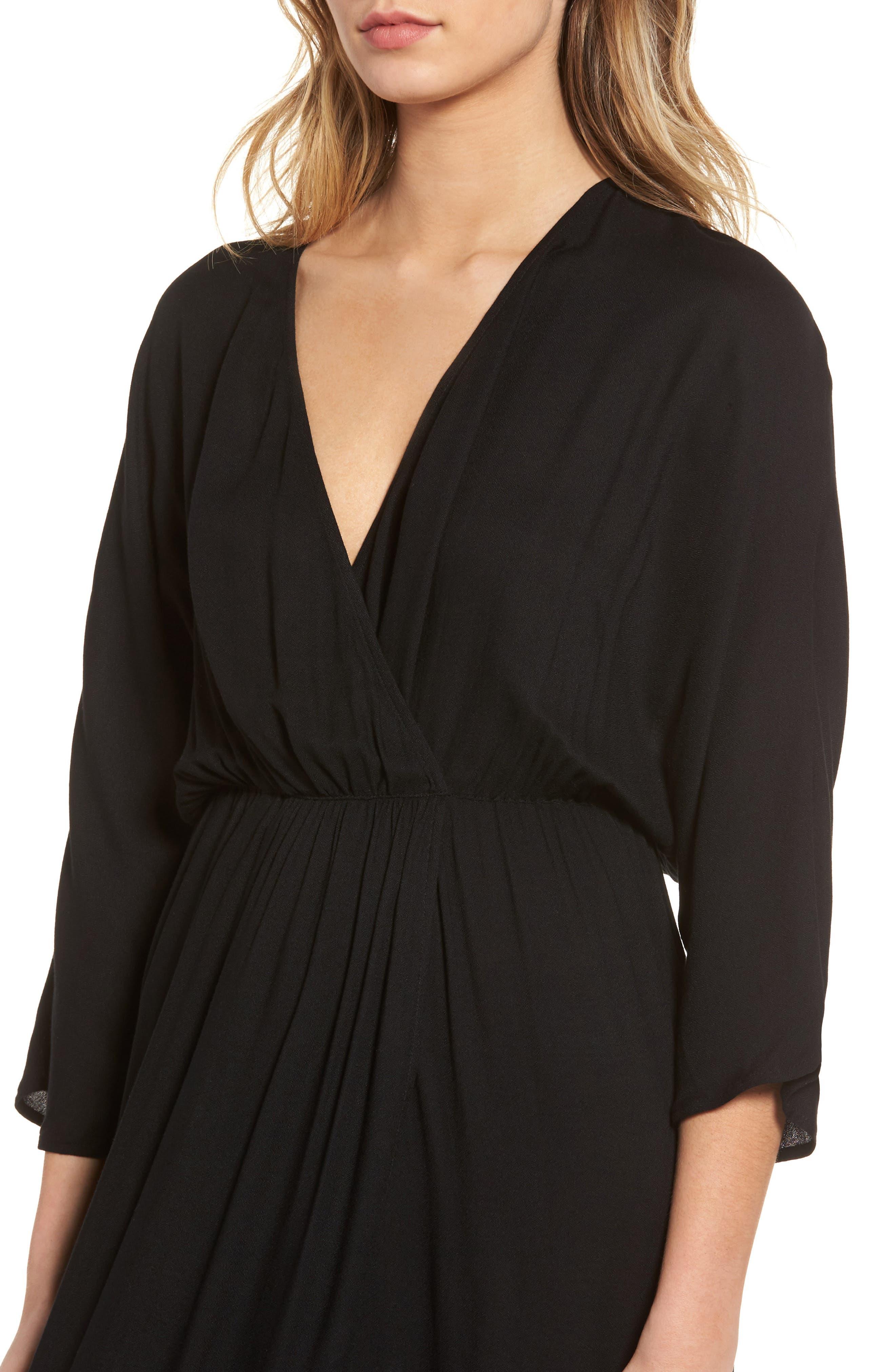 Blouson Maxi Dress,                             Alternate thumbnail 4, color,                             001