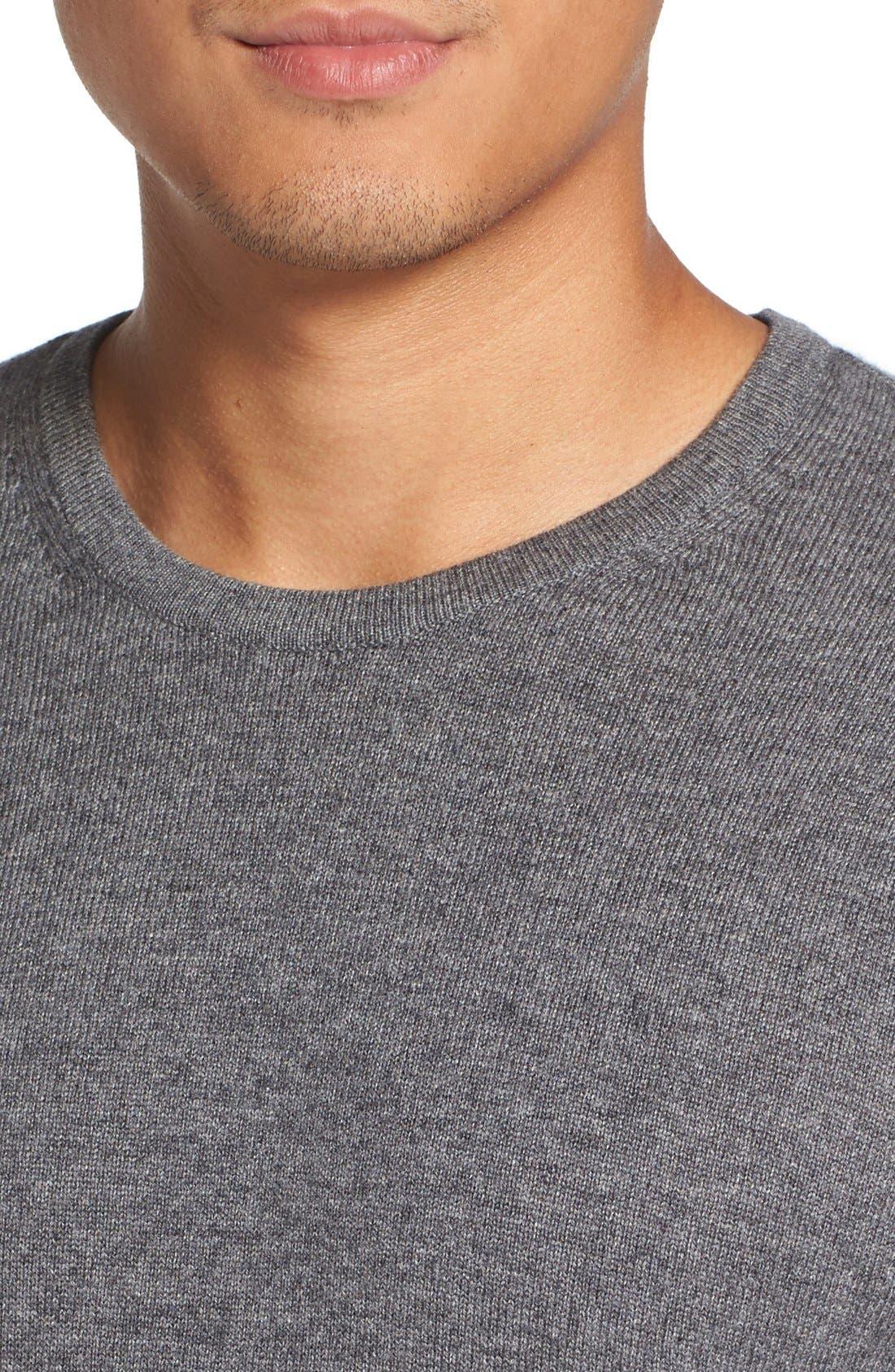 Stripe Wool Blend Sweater,                             Alternate thumbnail 4, color,                             020