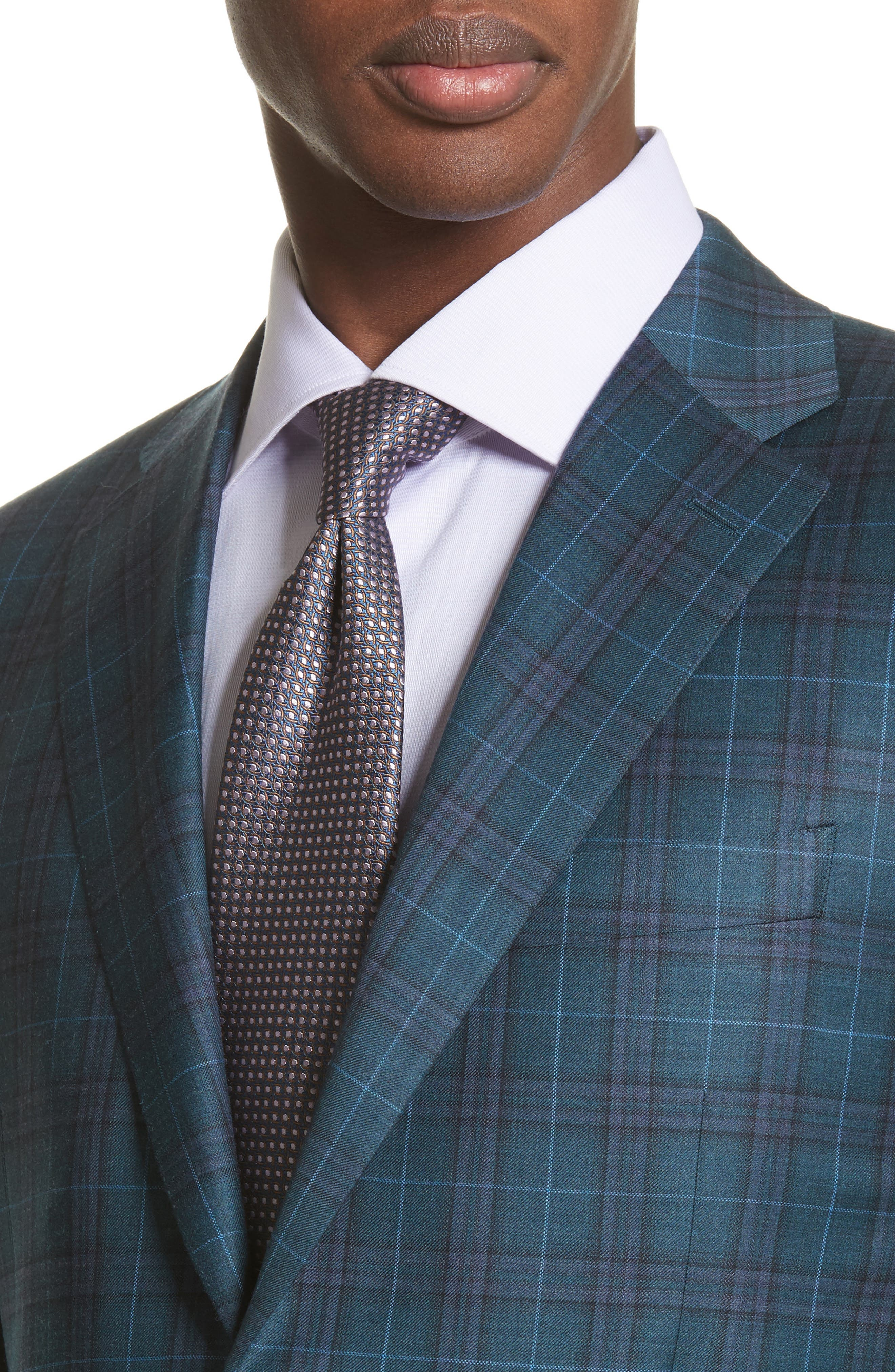 Classic Fit Plaid Wool Sport Coat,                             Alternate thumbnail 4, color,                             301