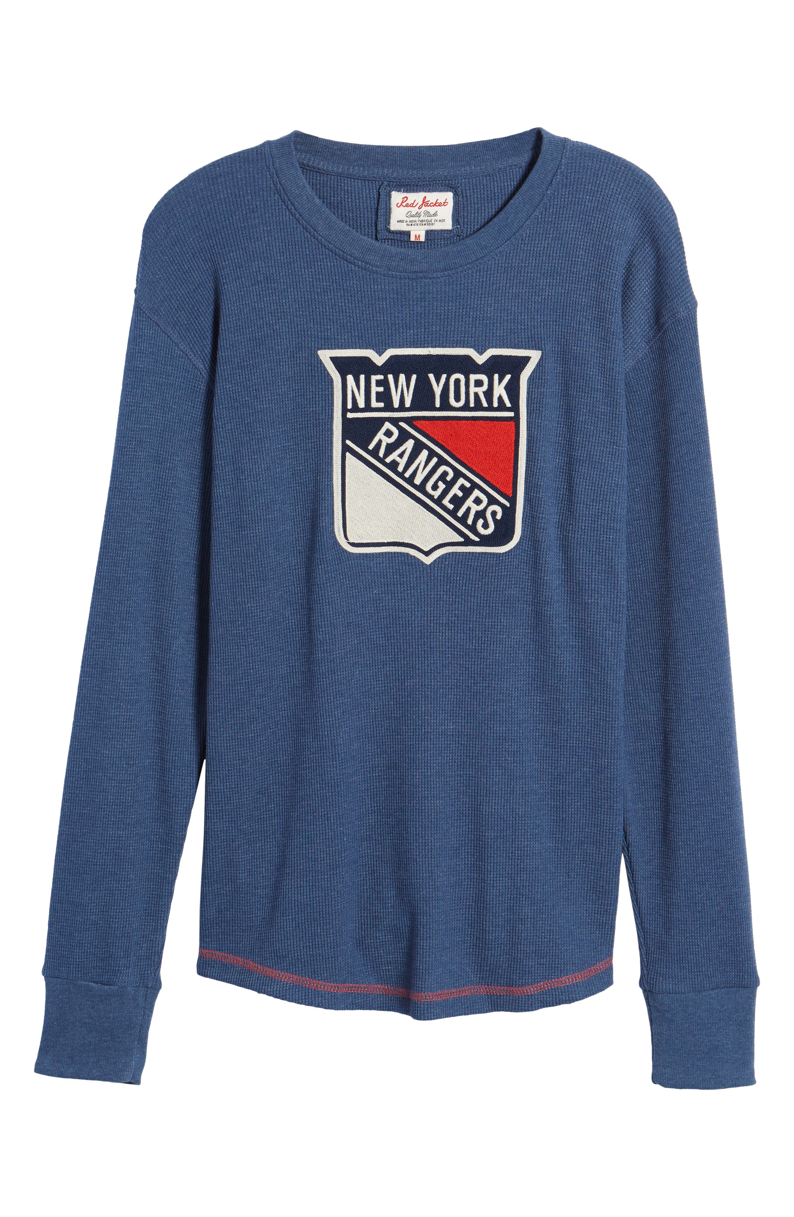 New York Rangers Embroidered Long Sleeve Thermal Shirt,                             Alternate thumbnail 6, color,                             410