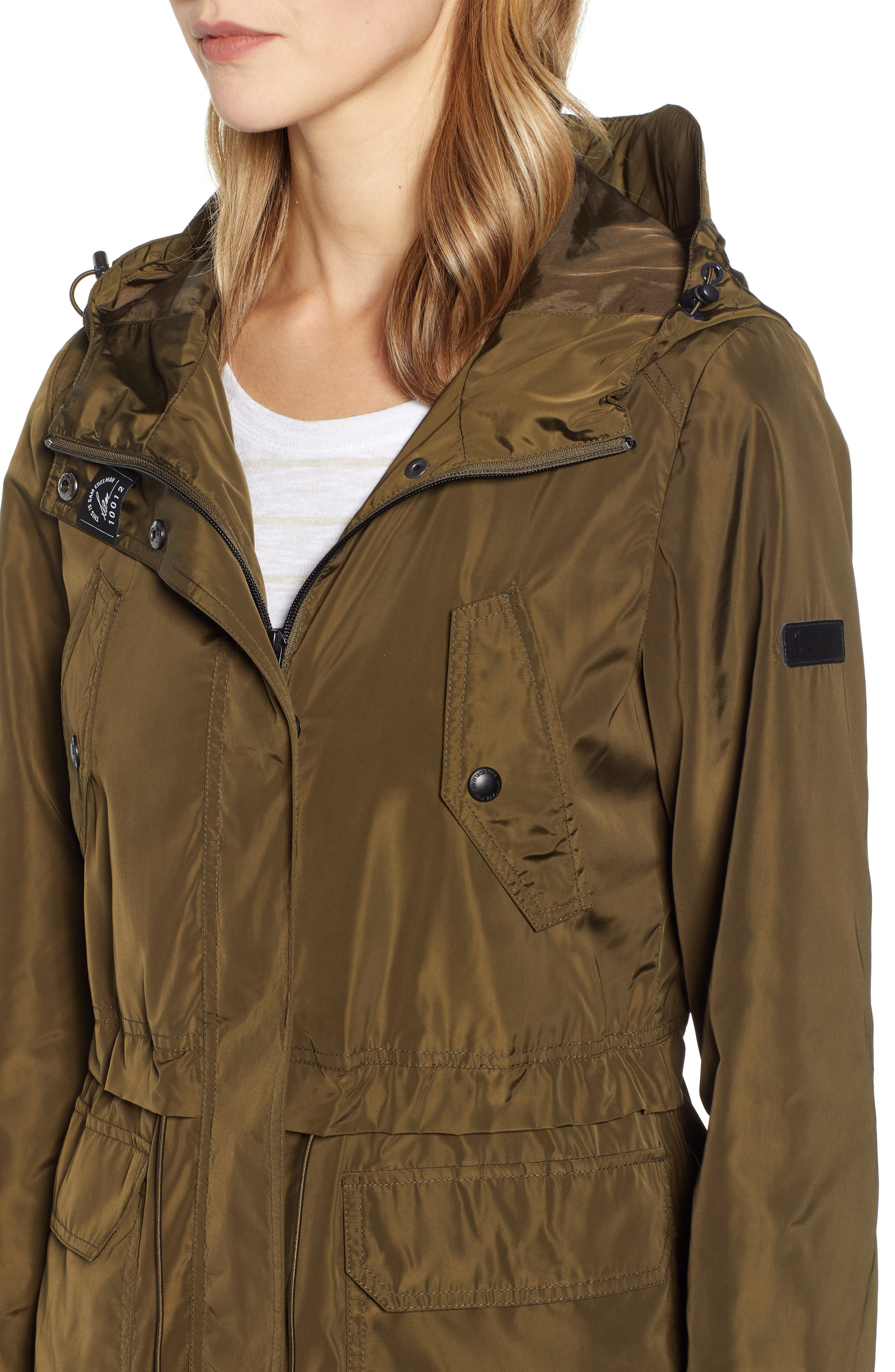 Hooded Water Resistant Parka,                             Alternate thumbnail 4, color,                             LODEN