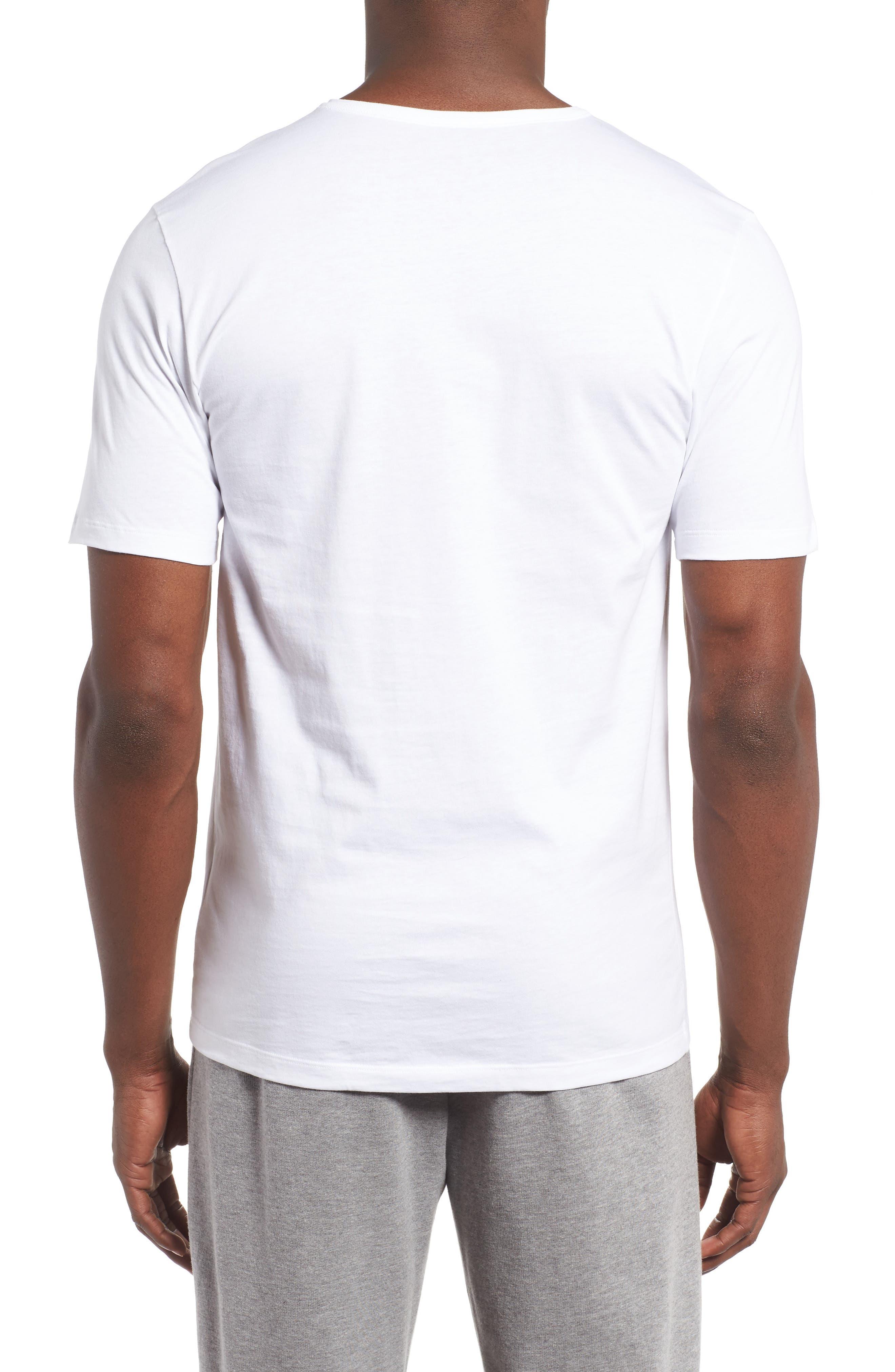 3-Pack Crewneck Cotton T-Shirt,                             Alternate thumbnail 3, color,                             WHITE