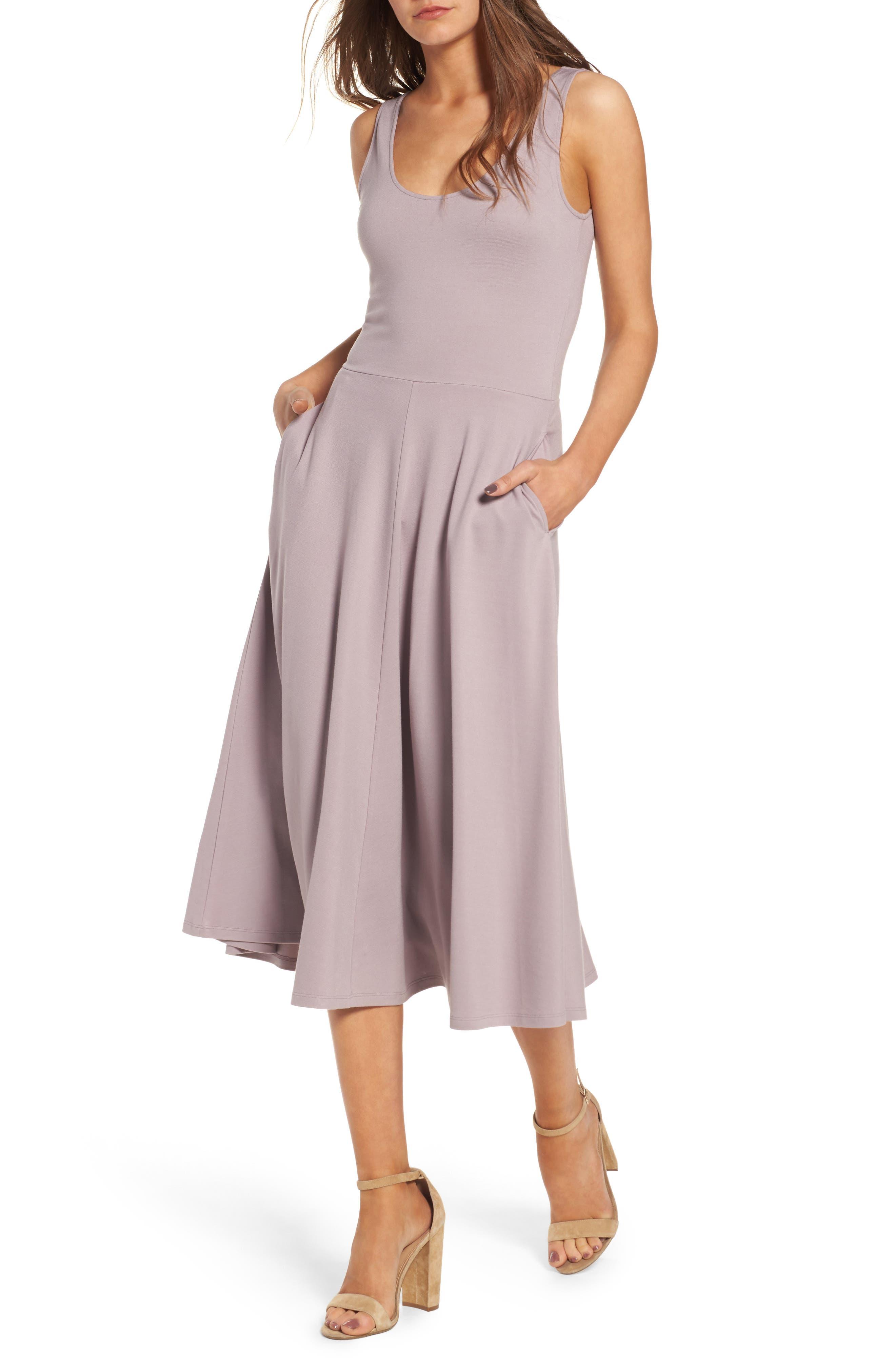 Stretch Knit Midi Dress,                             Main thumbnail 7, color,
