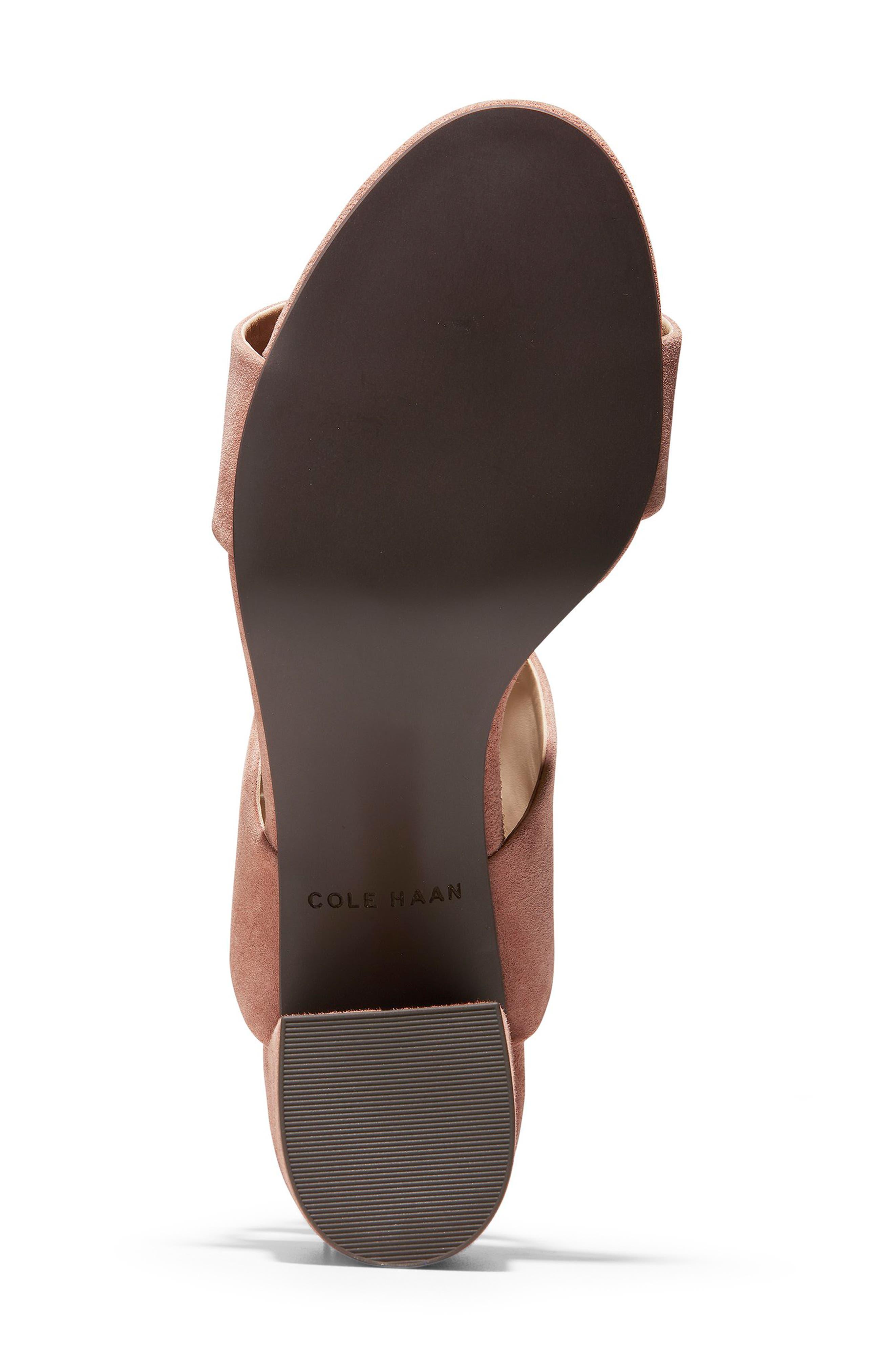 Avani Block Heel Sandal,                             Alternate thumbnail 6, color,                             MOCHA MOUSSE SUEDE