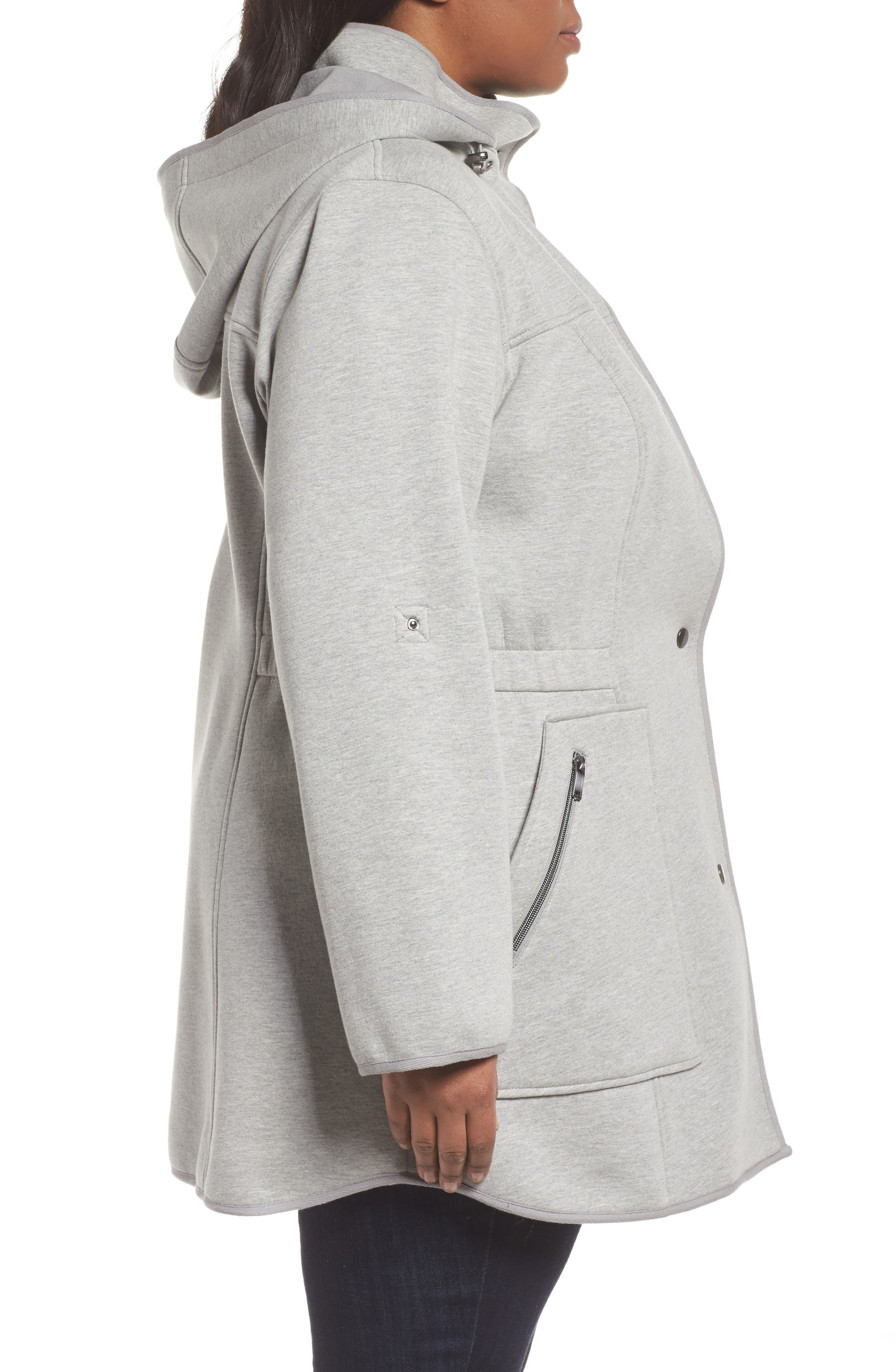Hooded Knit Anorak,                             Alternate thumbnail 3, color,                             055