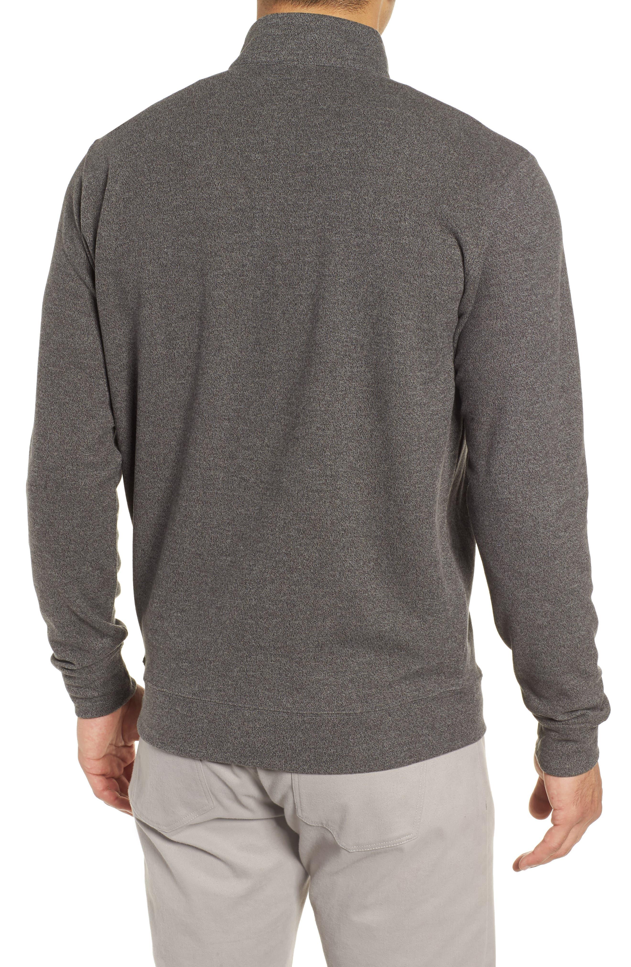 Mélange Fleece Quarter Zip Pullover,                             Alternate thumbnail 2, color,                             SMOKE