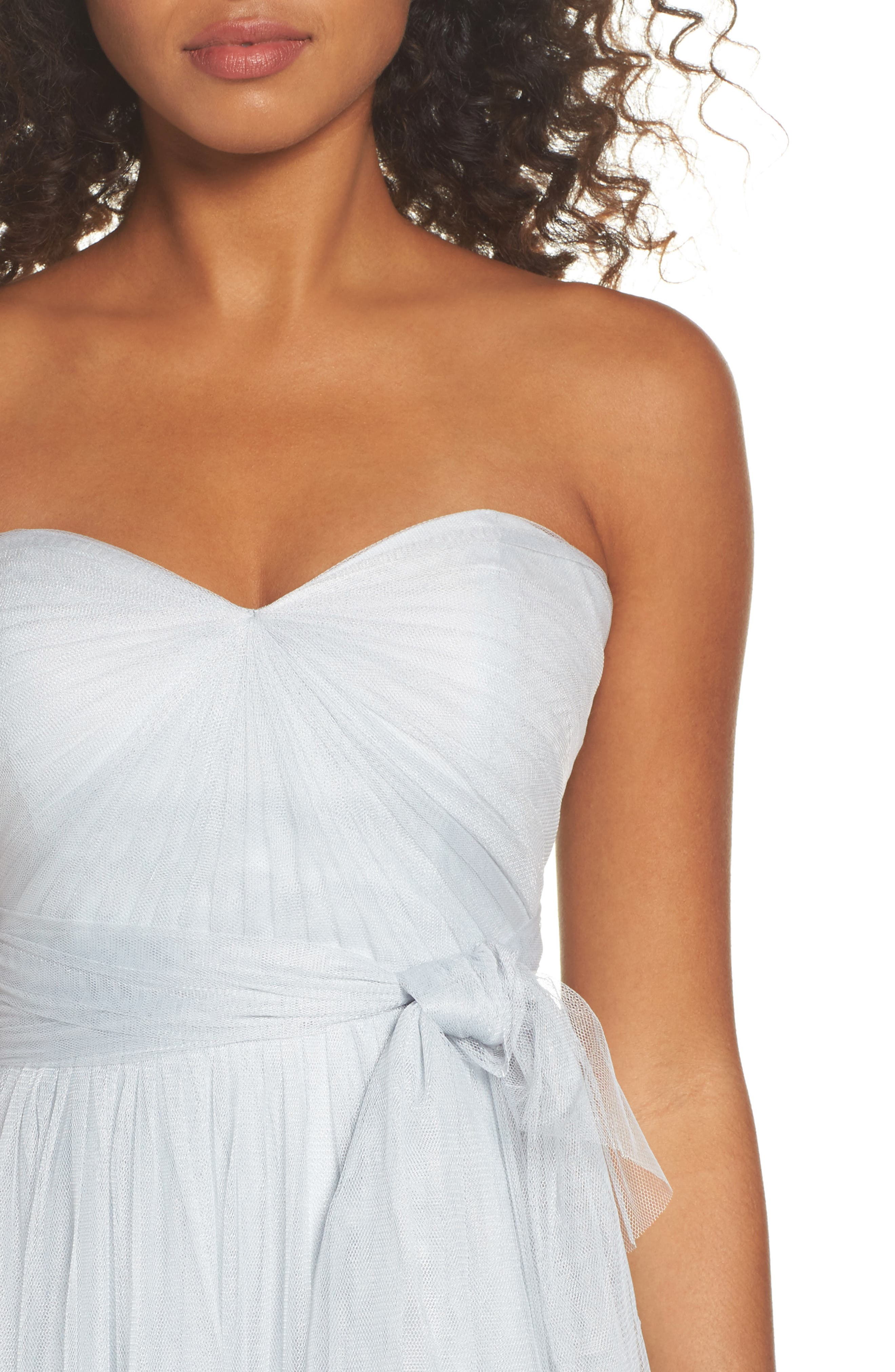 Annabelle Convertible Tulle Column Dress,                             Alternate thumbnail 95, color,