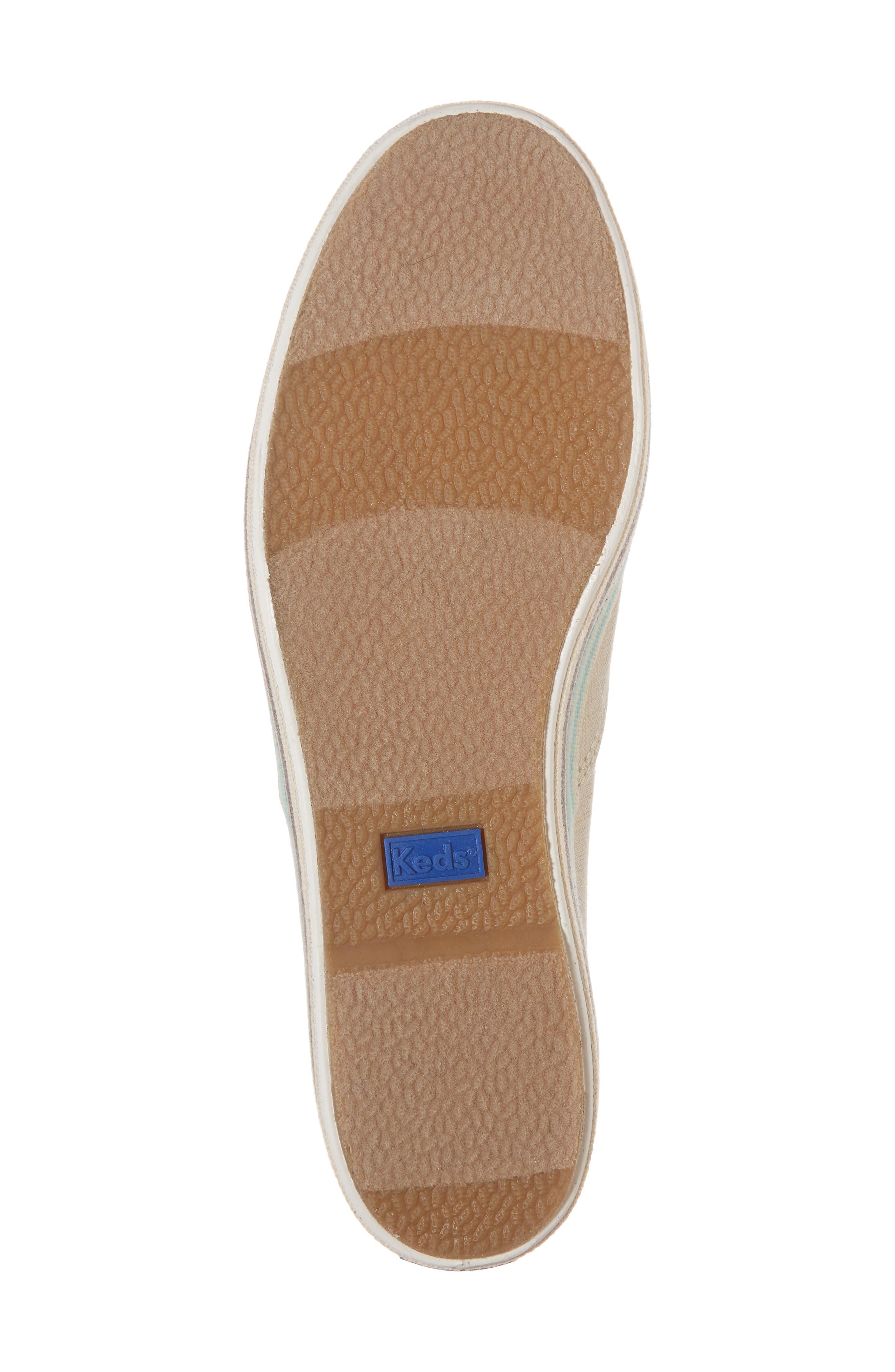Triple Stripe Foxing Platform Sneaker,                             Alternate thumbnail 6, color,                             250