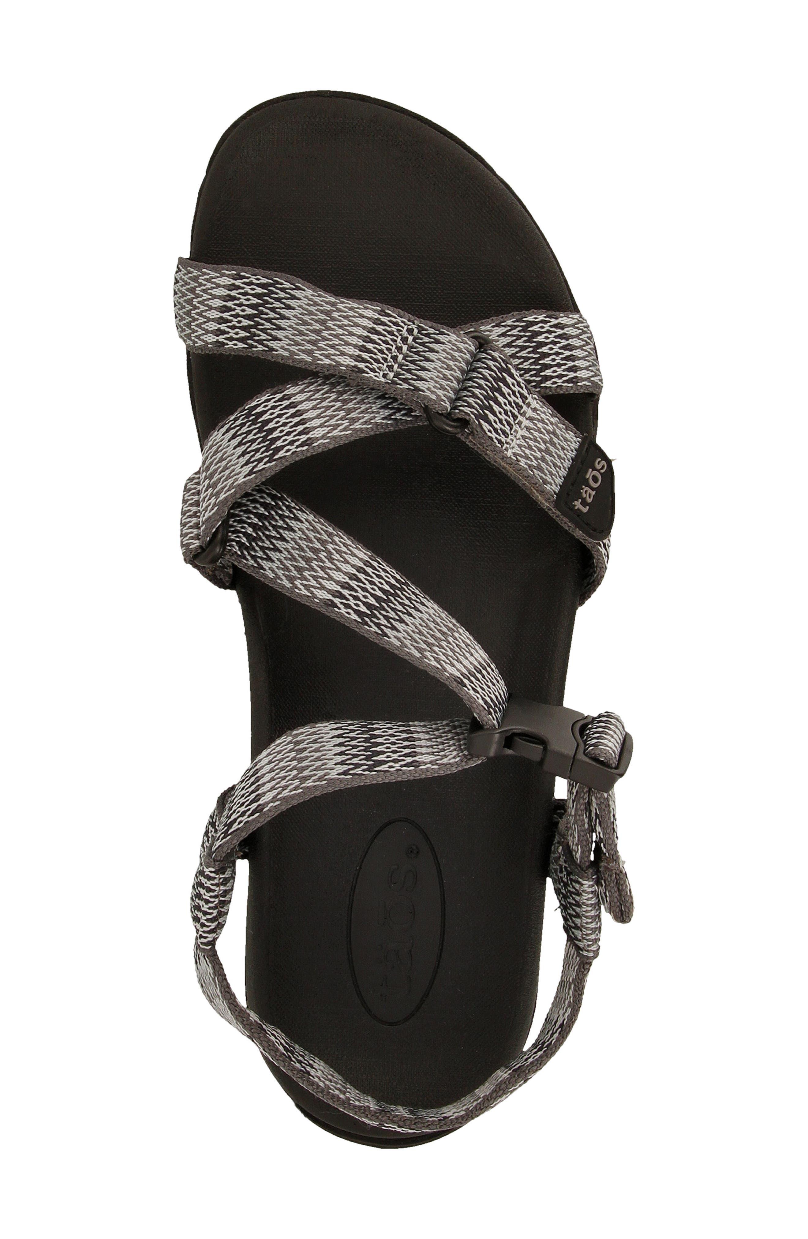 New Wave Sandal,                             Alternate thumbnail 3, color,                             BLACK FABRIC