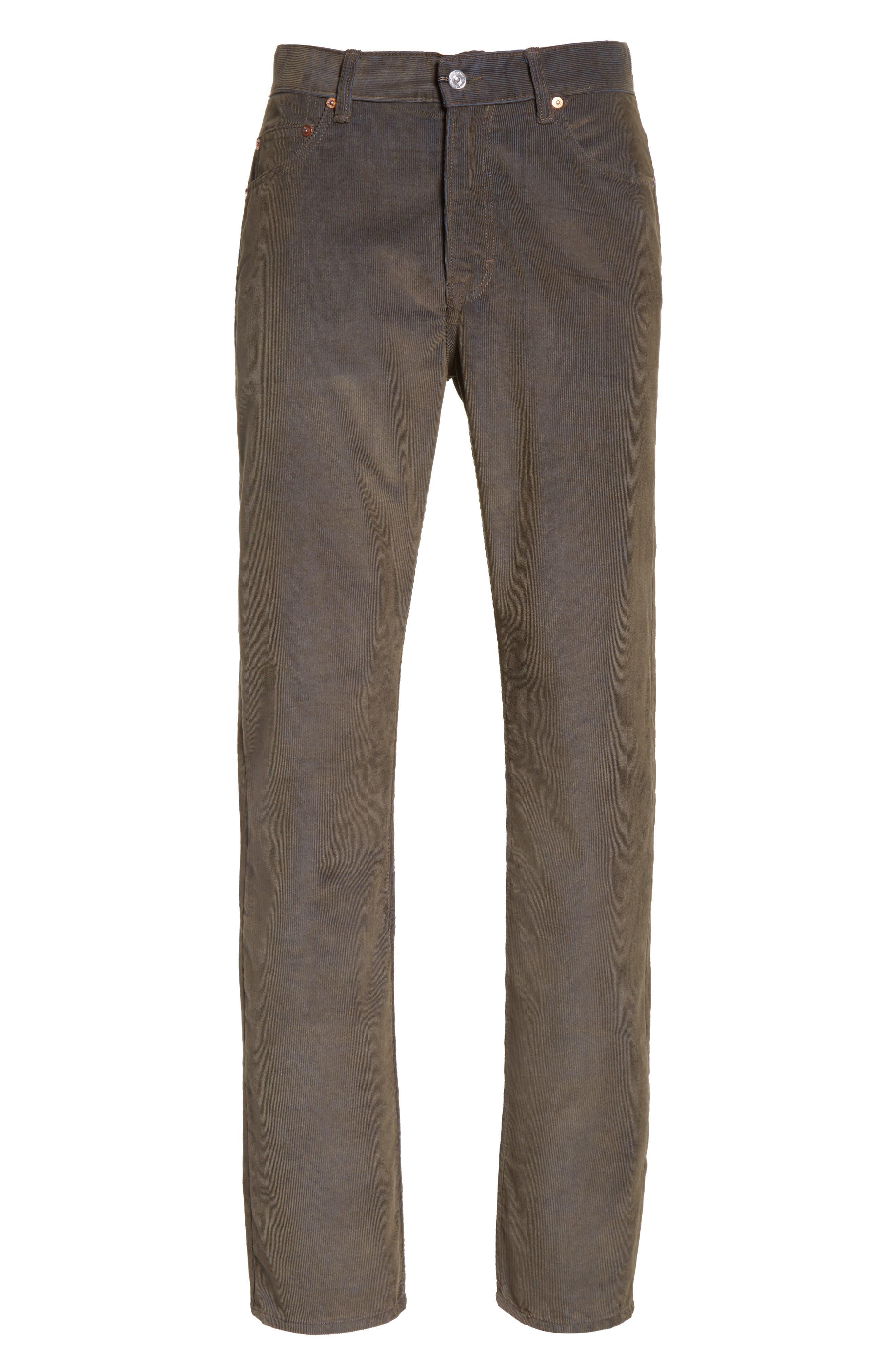 Second Cut Sludge Corduroy Pants,                             Alternate thumbnail 6, color,                             301