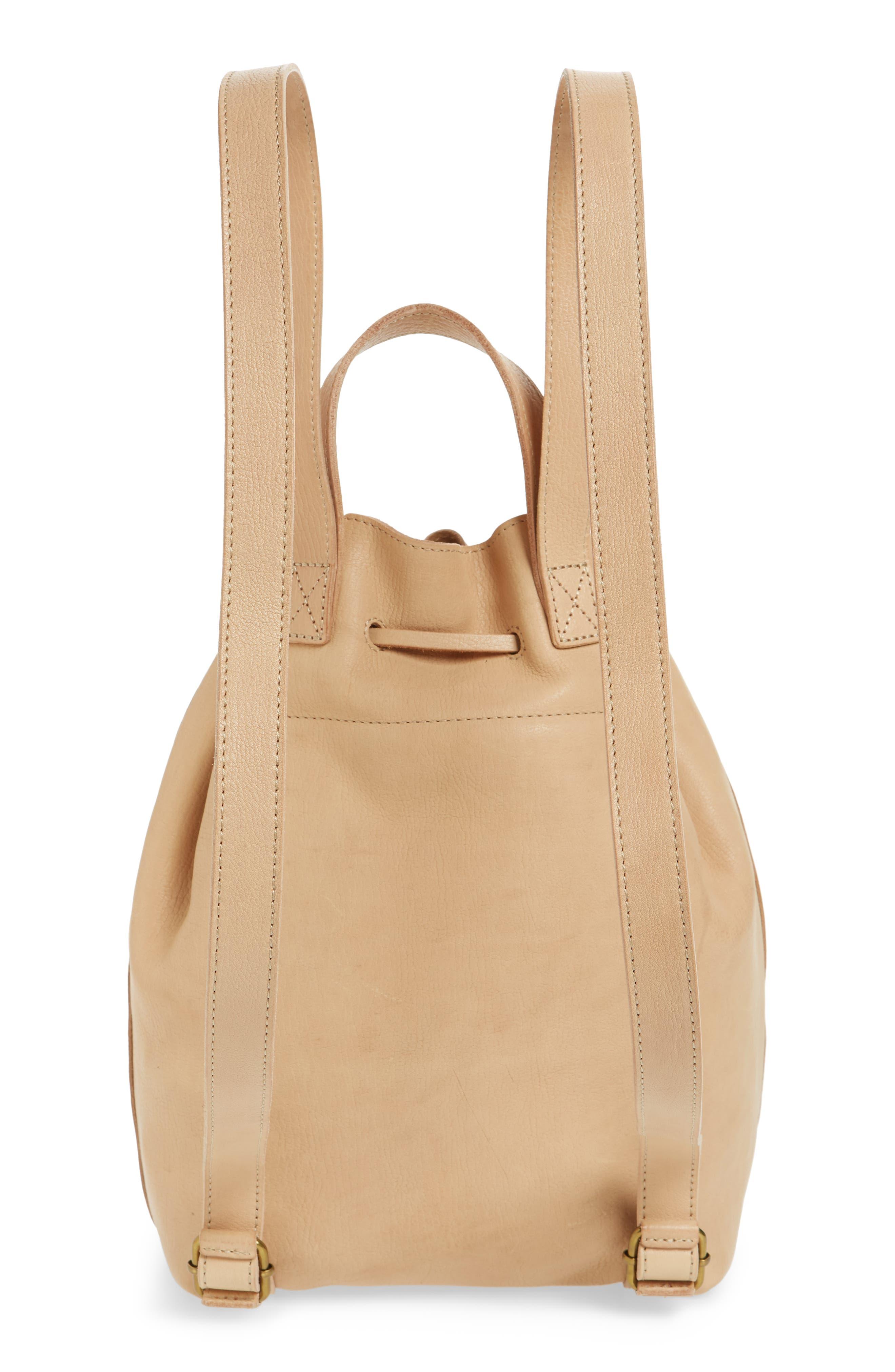 Somerset Leather Backpack,                             Alternate thumbnail 3, color,                             LINEN