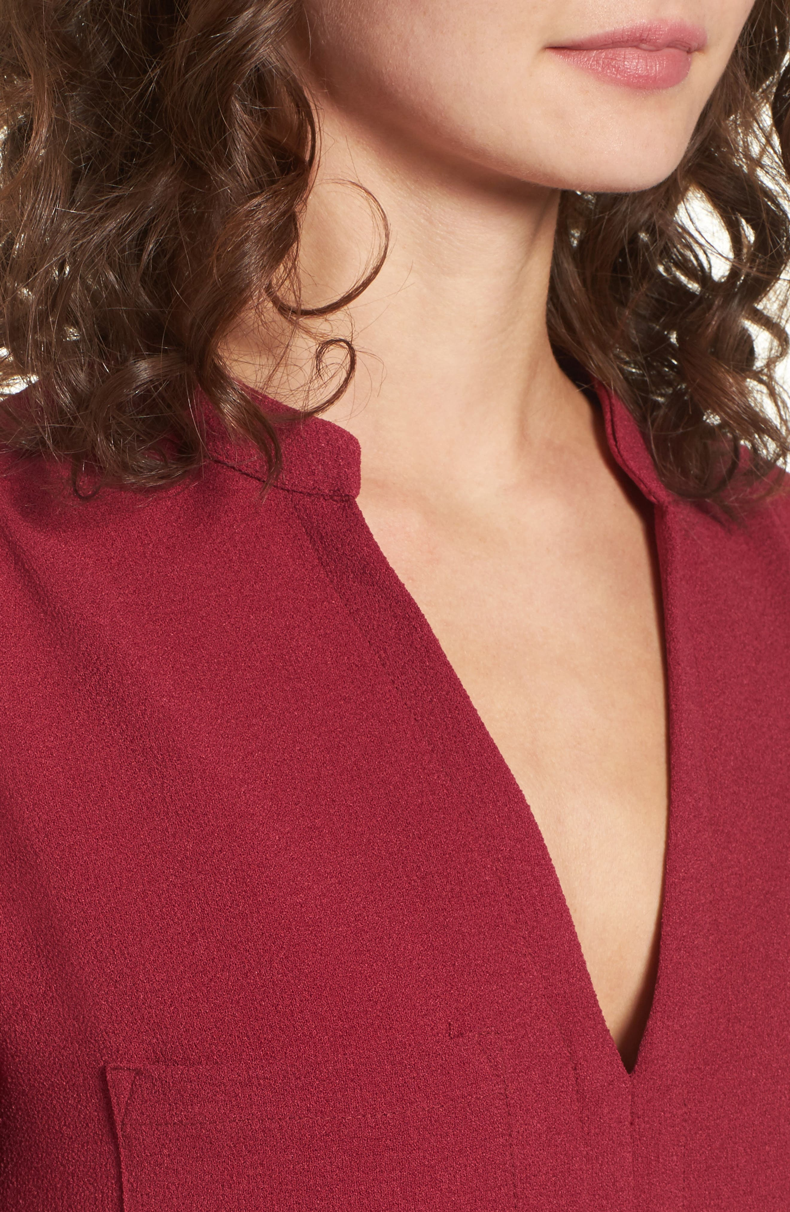Hailey Crepe Dress,                             Alternate thumbnail 110, color,