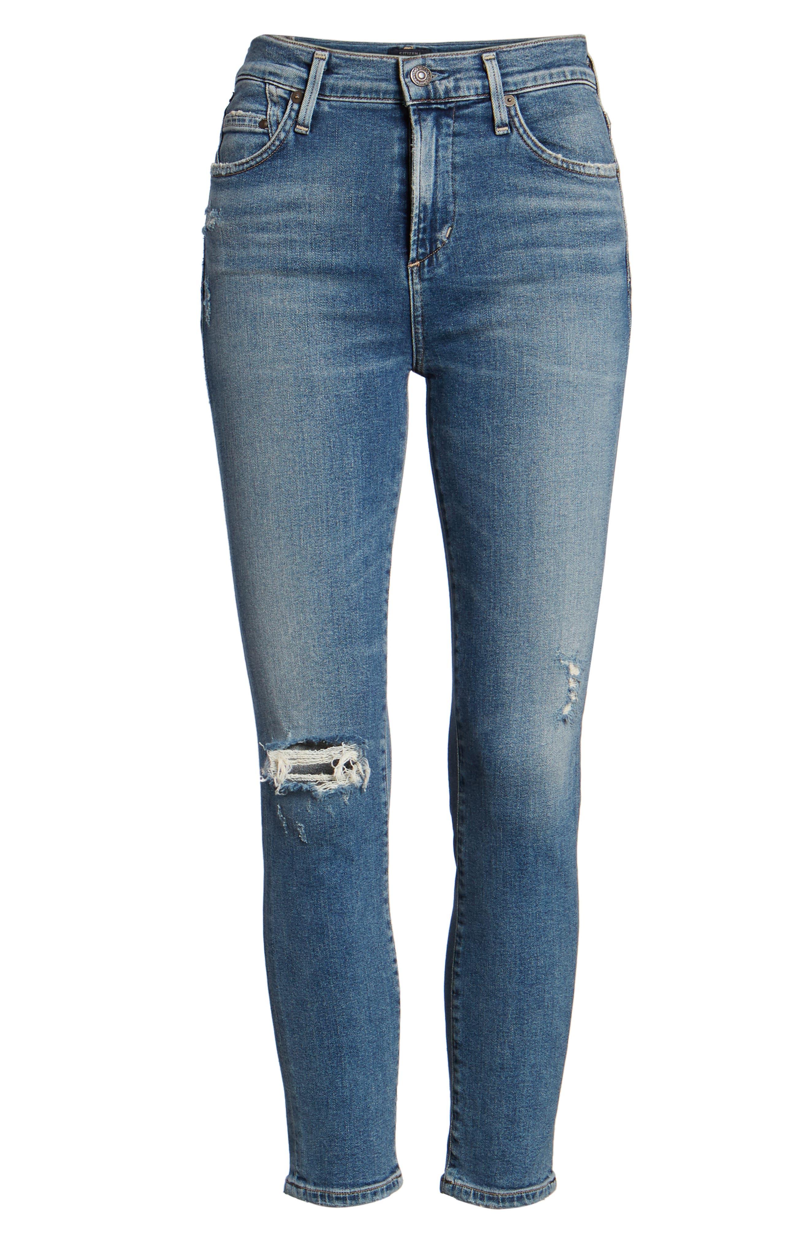 Rocket High Waist Crop Skinny Jeans,                             Alternate thumbnail 7, color,                             427