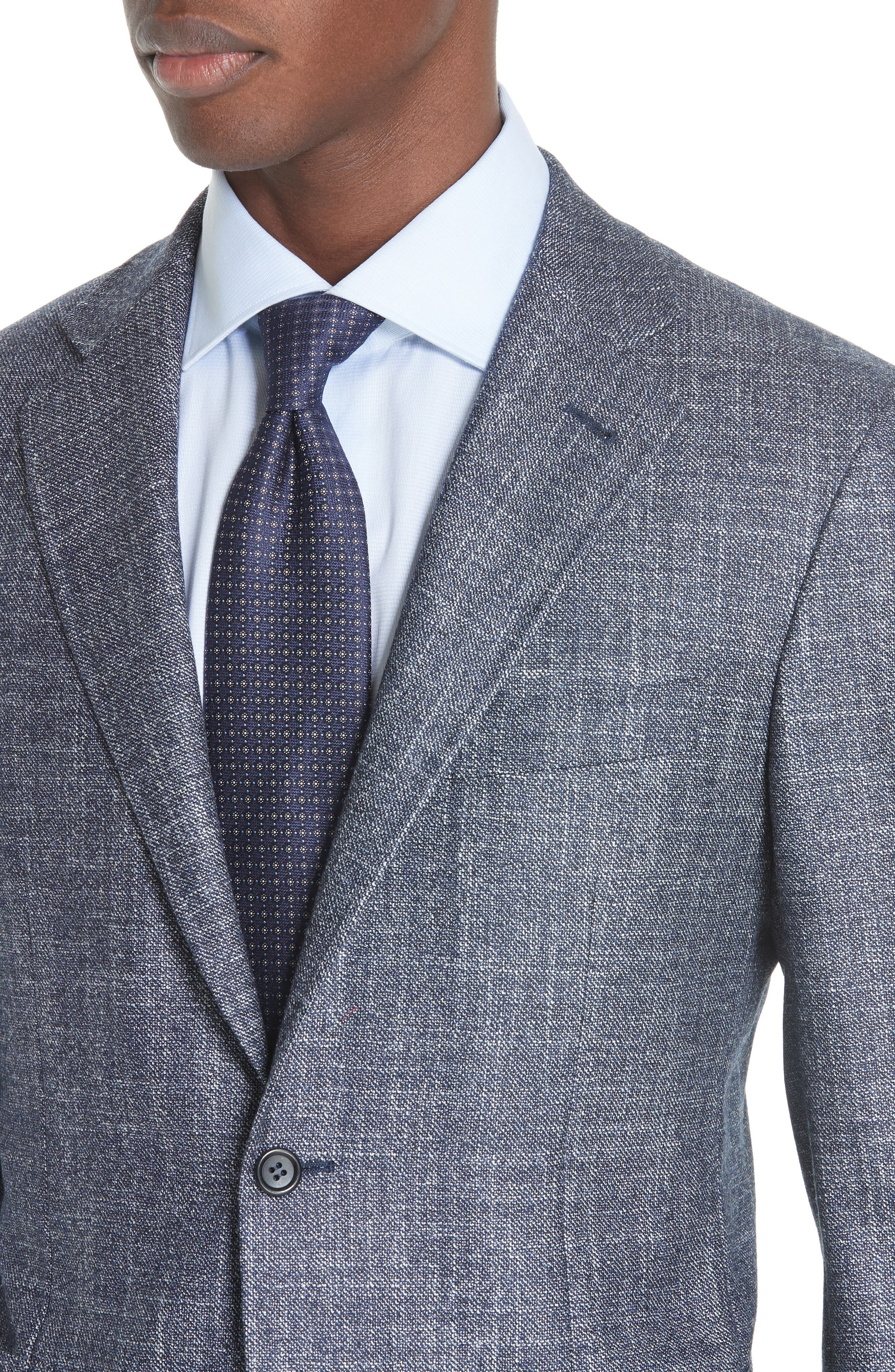 Kei Classic Fit Wool Blend Blazer,                             Alternate thumbnail 4, color,                             NAVY