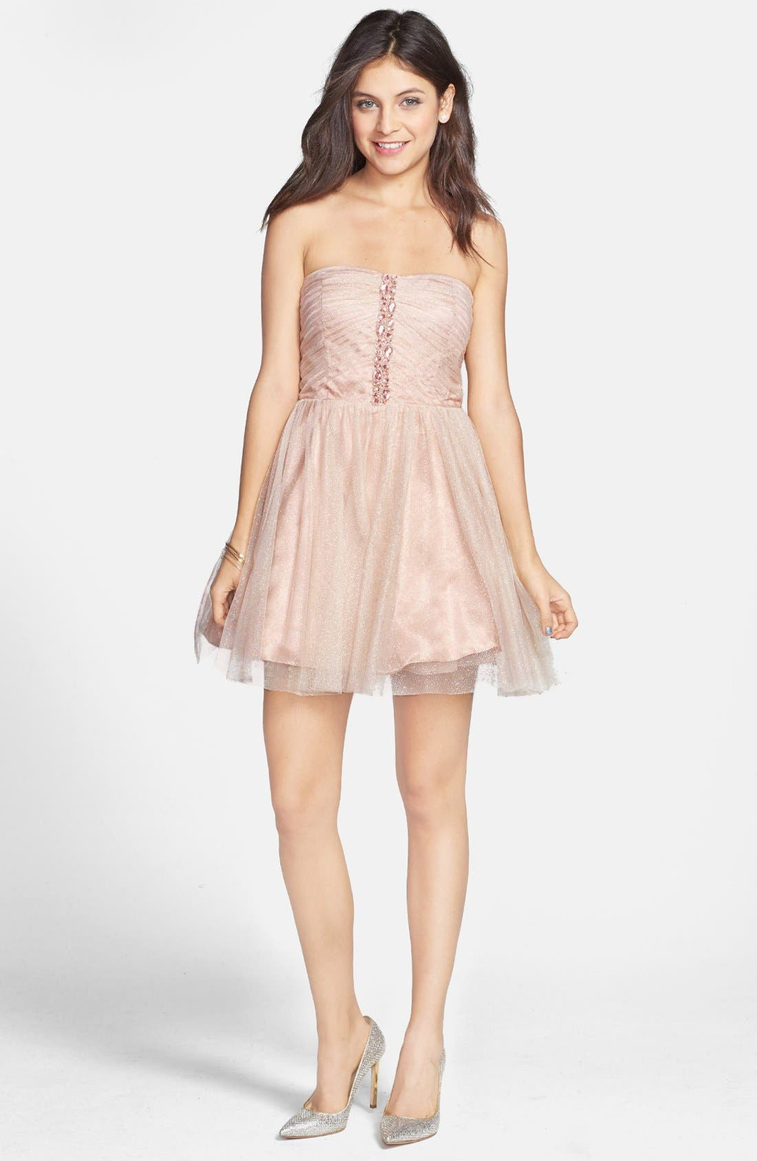 JUMP APPAREL Strapless Dress, Main, color, 650