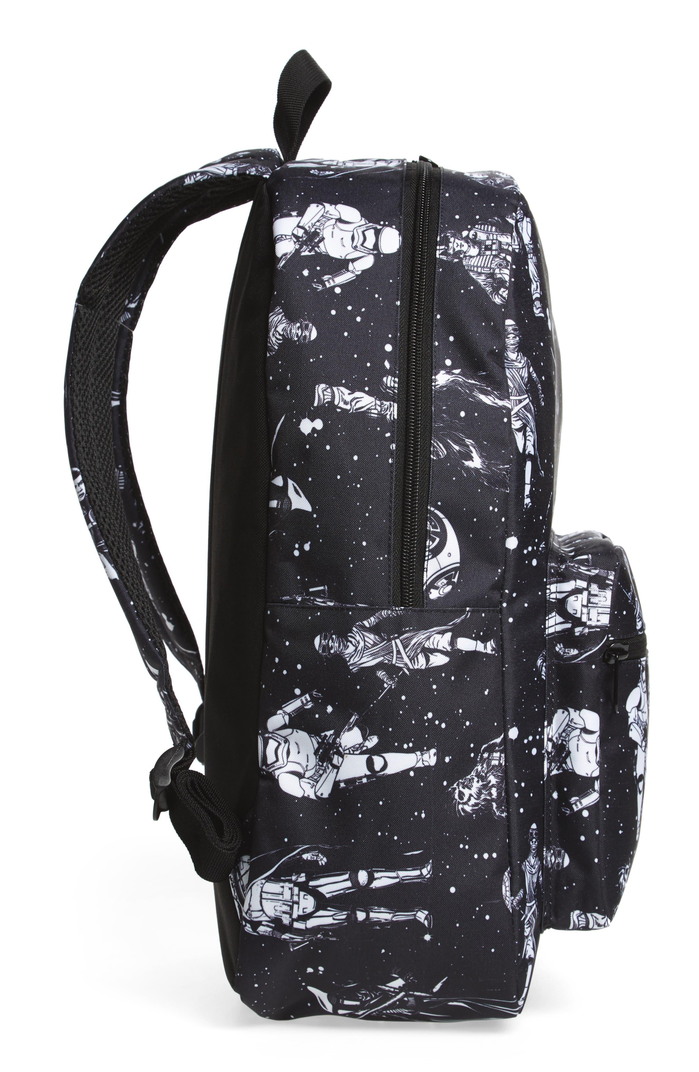 The Force Awakens Black & White Space Backpack,                             Alternate thumbnail 4, color,                             001