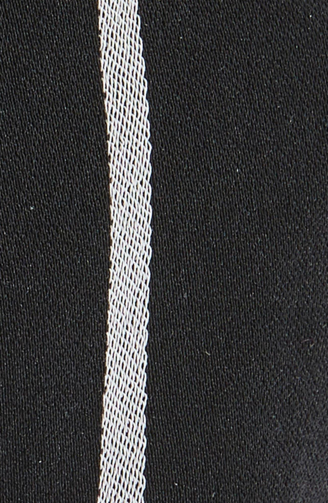 Stripe Knot Headband,                             Alternate thumbnail 2, color,                             BLACK