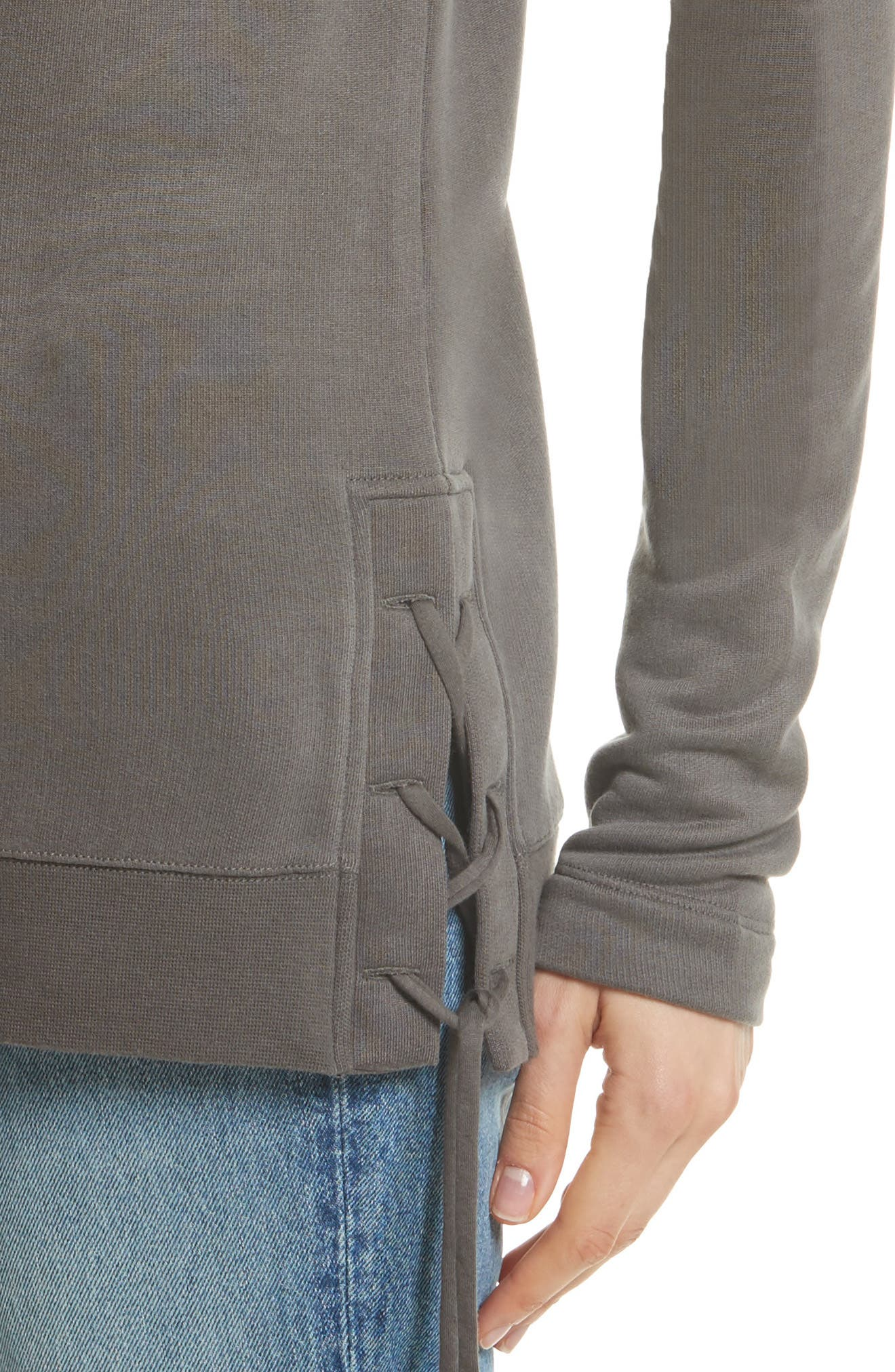 Lace Up Sweater,                             Alternate thumbnail 4, color,
