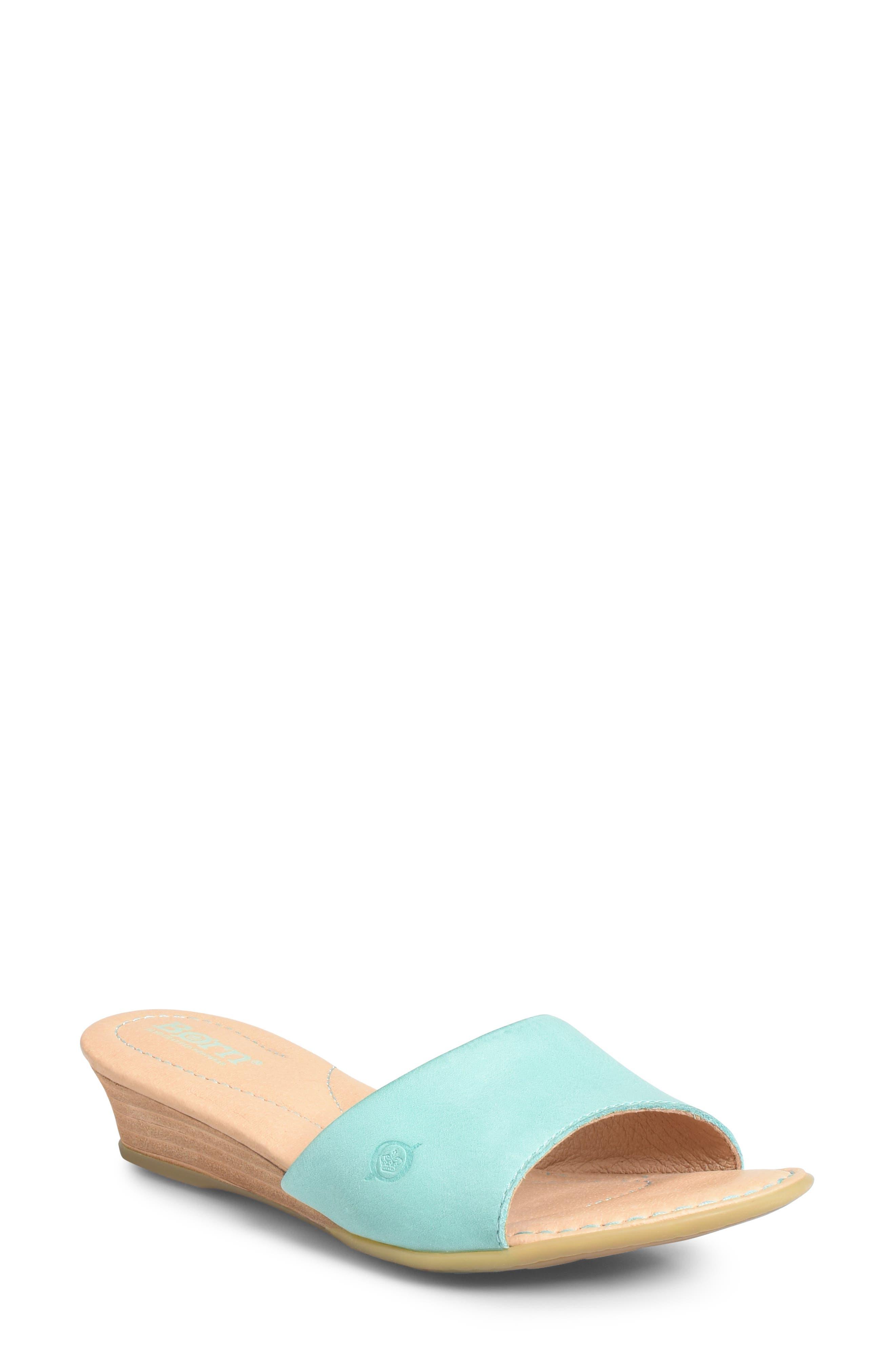 B?rn Shasta Wedge Slide Sandal, Blue