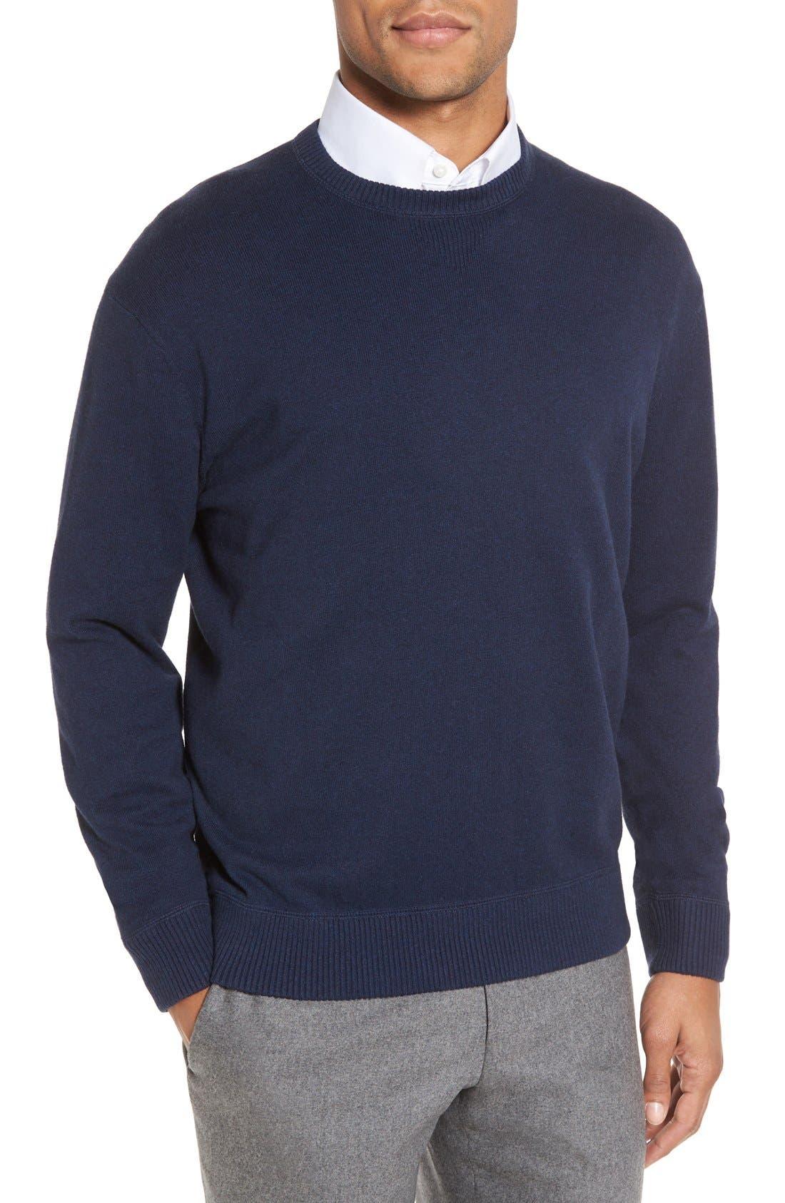 'Jersey Sport' Cotton Blend Crewneck Sweater,                             Main thumbnail 5, color,