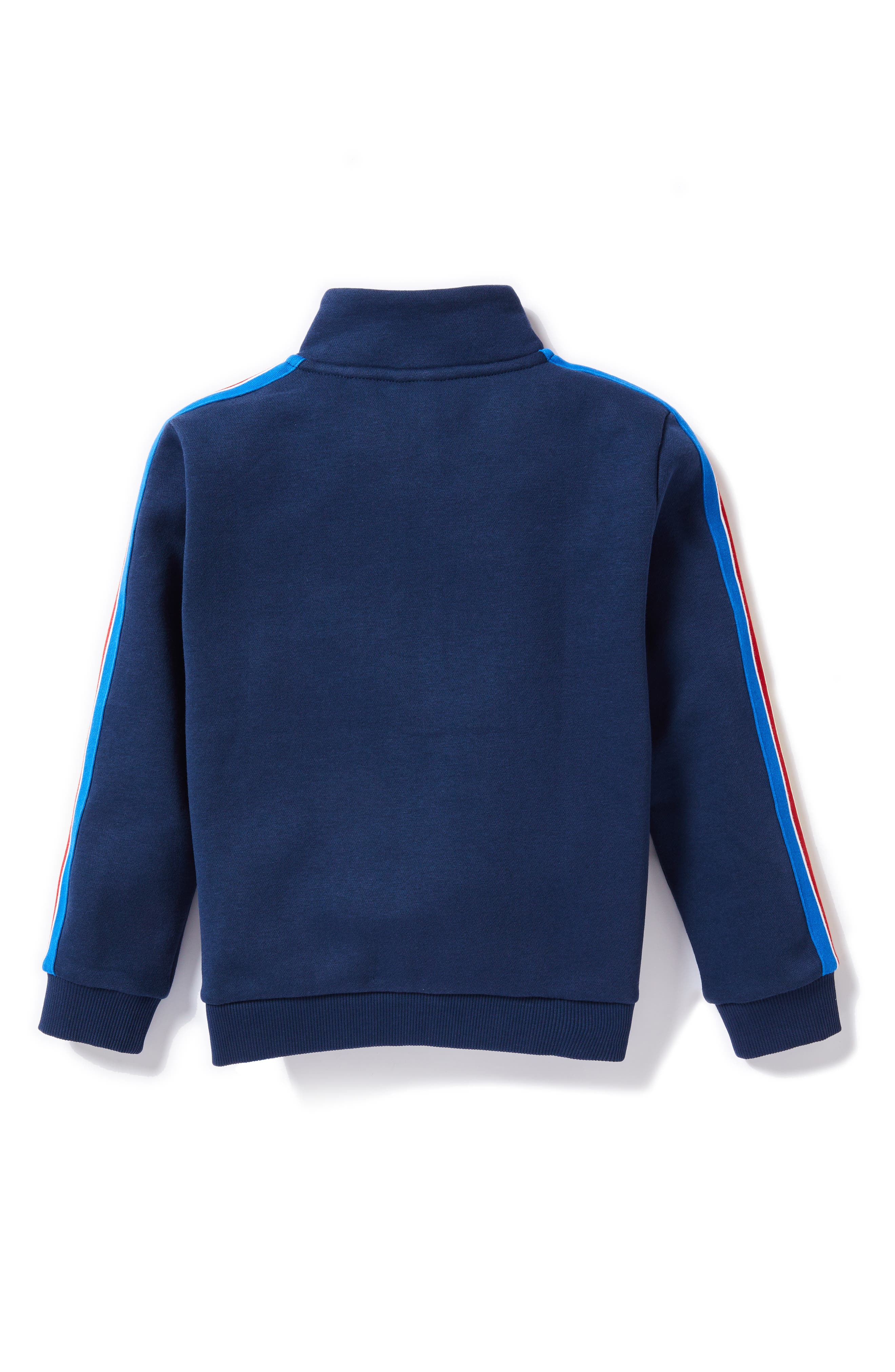 Athleisure Zip Jacket,                             Alternate thumbnail 2, color,                             NAVY BLUE