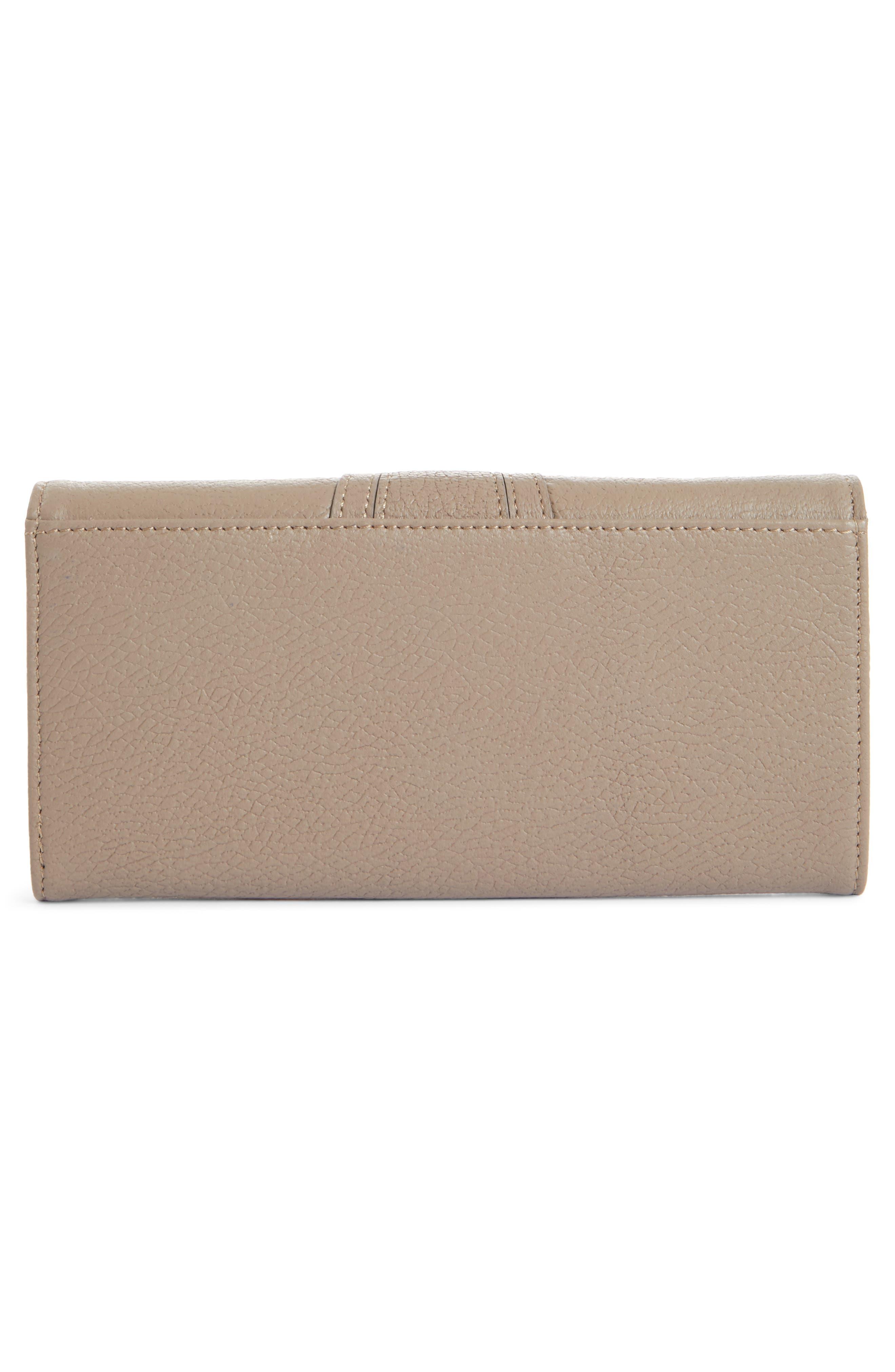 Hana Large Leather Wallet,                             Alternate thumbnail 2, color,                             MOTTY GREY