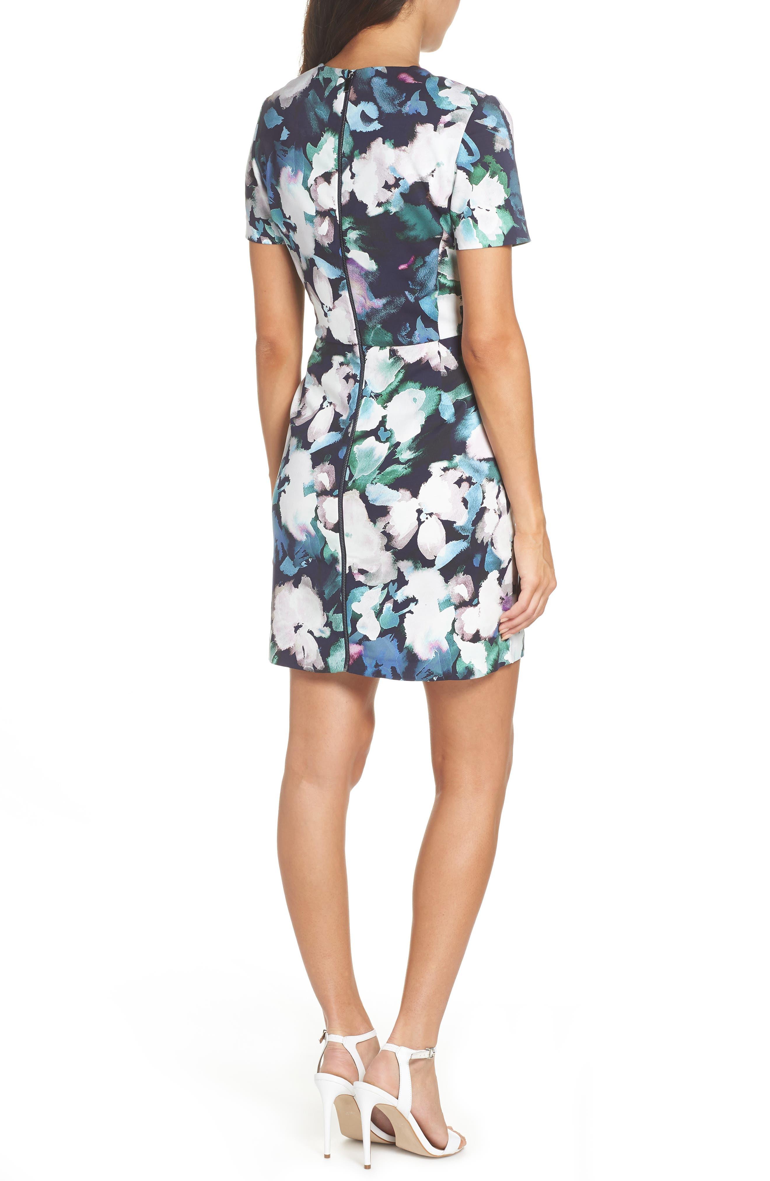Eleanor Sheath Dress,                             Alternate thumbnail 2, color,                             UTILITY MULTI