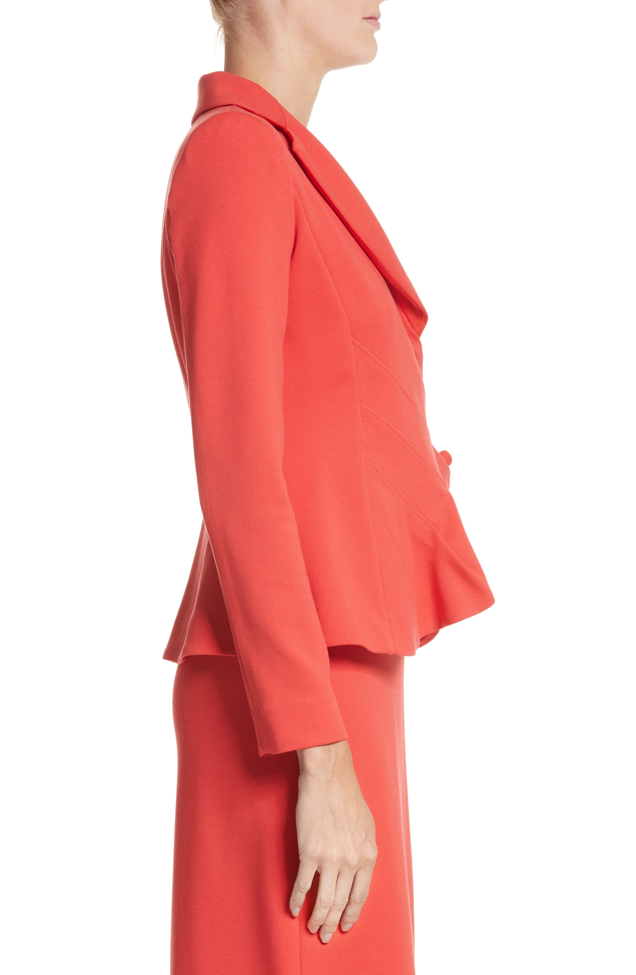 Asymmetrical Pleated Front Jacket,                             Alternate thumbnail 6, color,