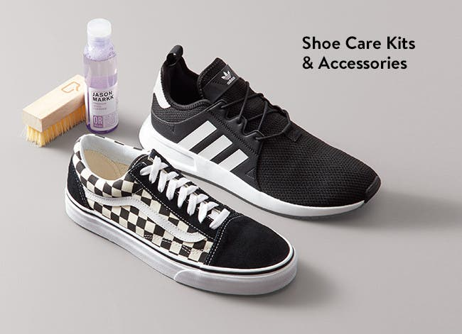 Shoe care kits and accessories.