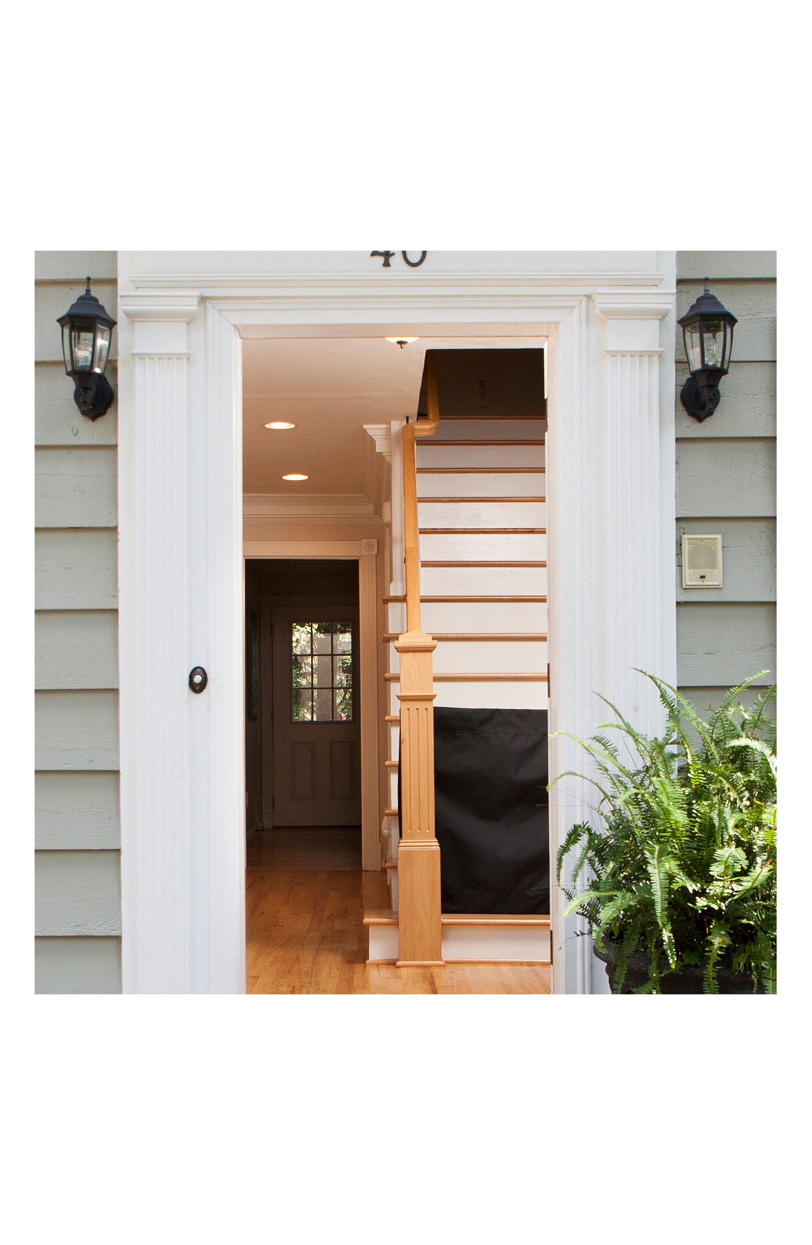 Wall to Banister Indoor Outdoor Safety Gate,                             Alternate thumbnail 6, color,                             002