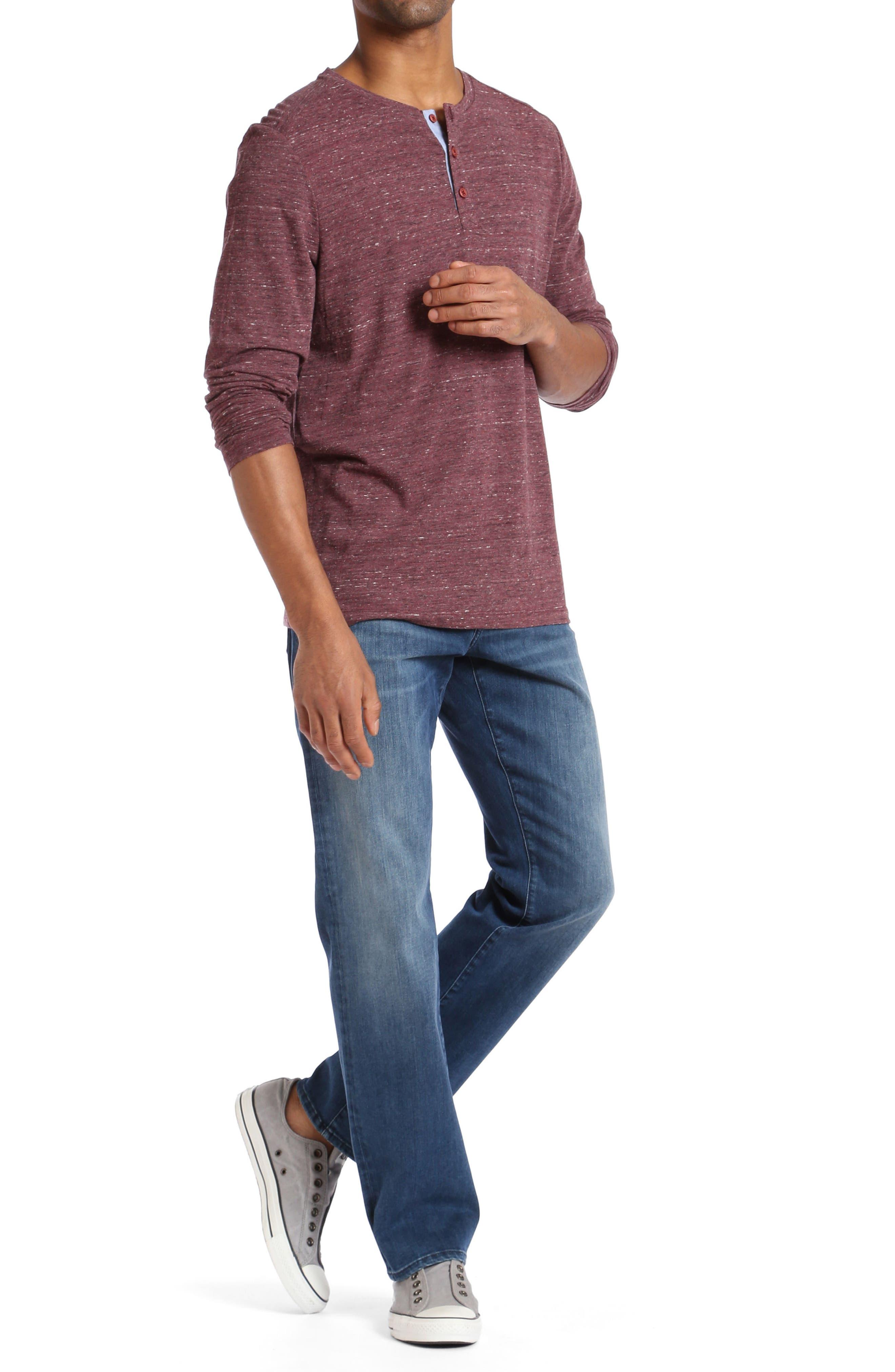 Myles Straight Leg Jeans,                             Alternate thumbnail 4, color,                             400