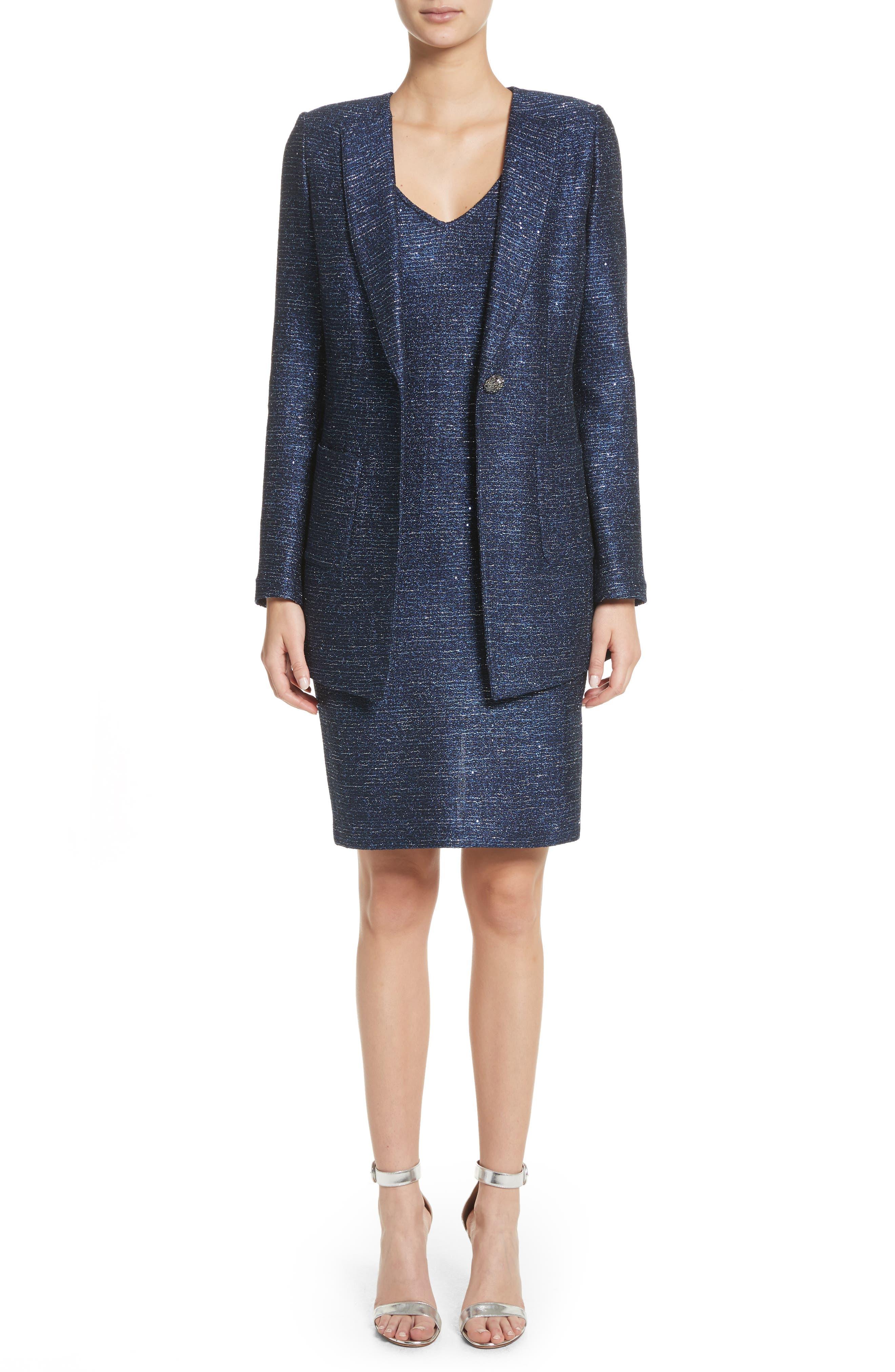 Sparkle Knit Sheath Dress,                             Alternate thumbnail 7, color,                             410