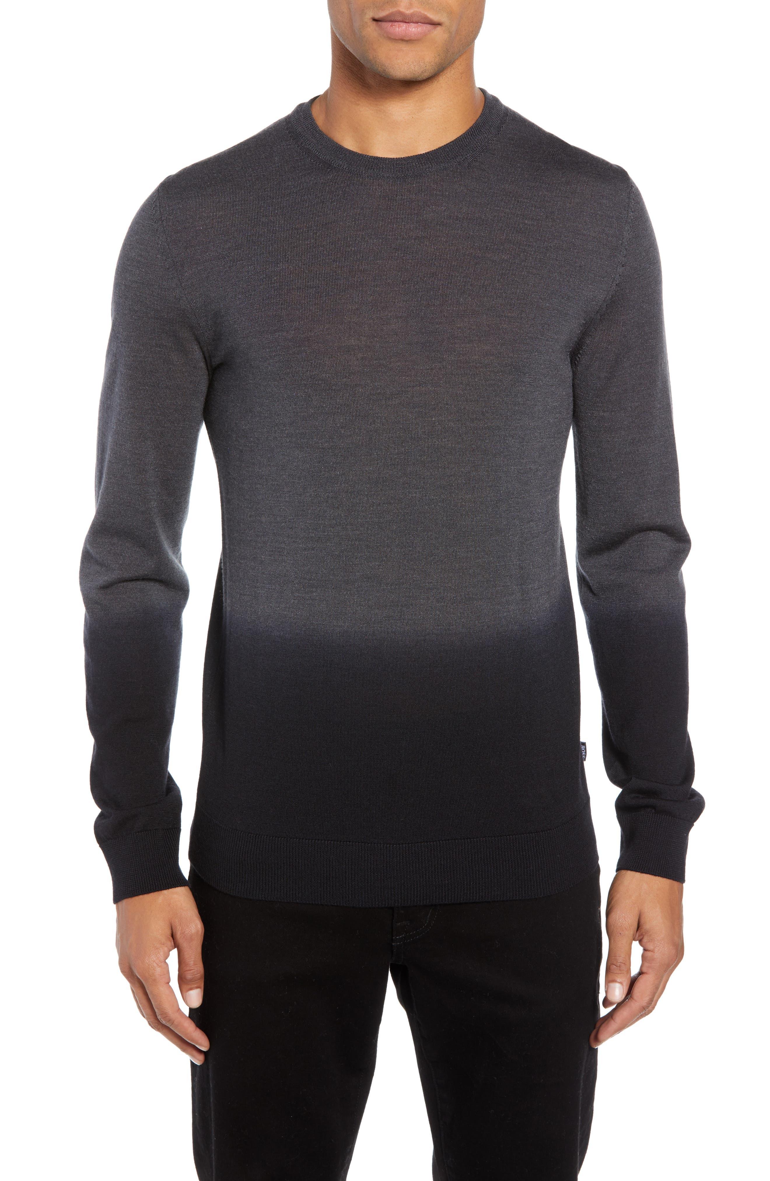 Boss Lapedro Slim Fit Ombre Virgin Wool & Silk Sweater