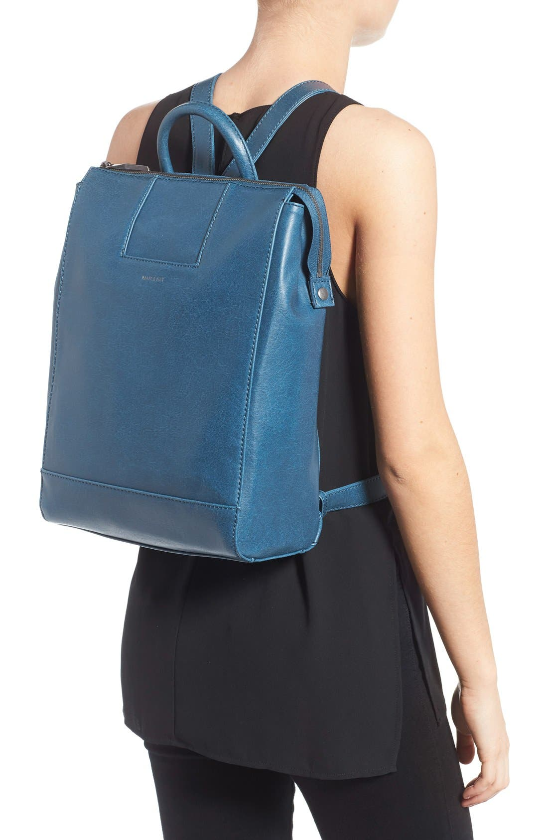 'Katherine' Faux Leather Backpack,                             Alternate thumbnail 11, color,