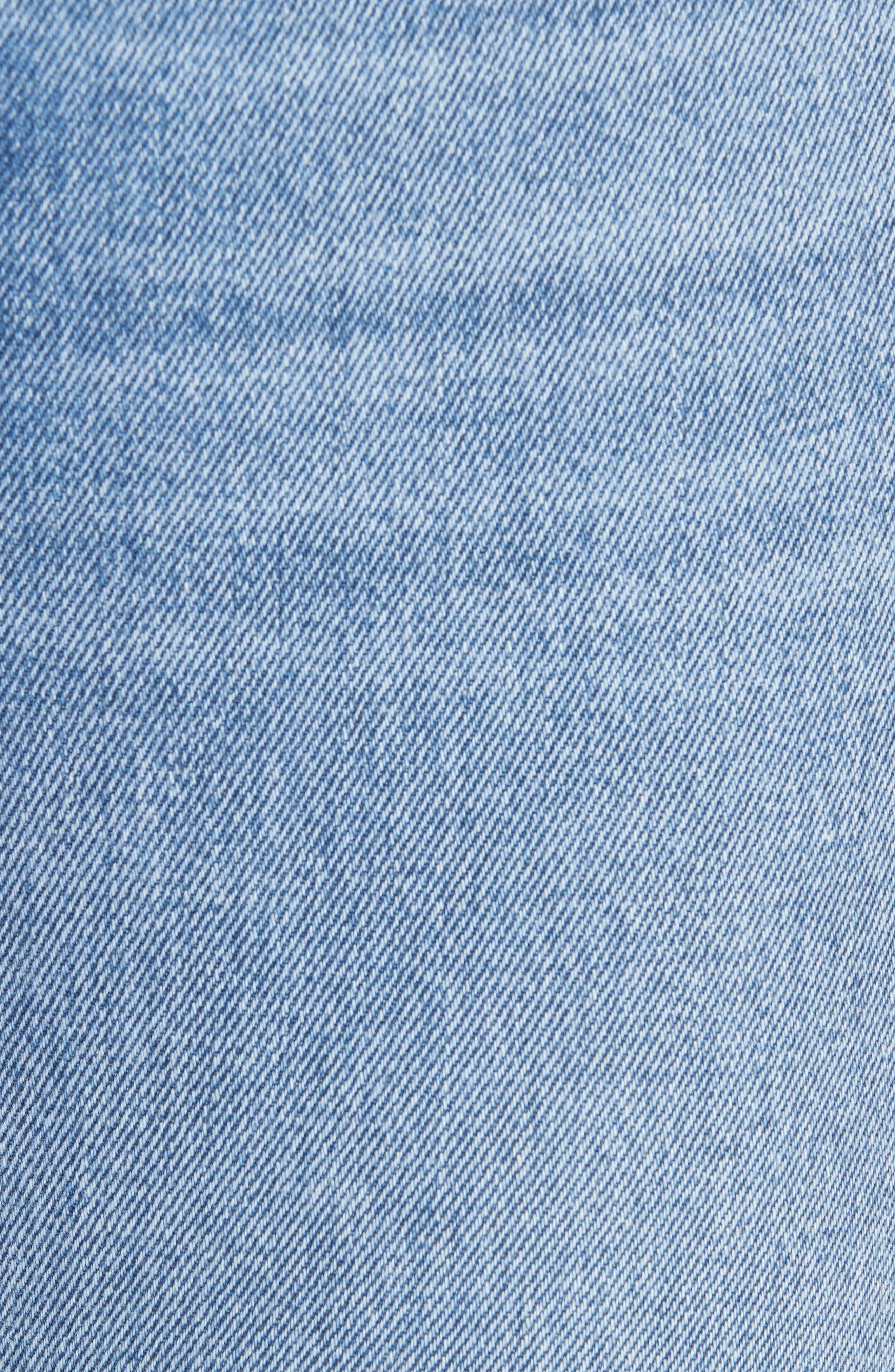 Addison Split Hem Boot Leg Jeans,                             Alternate thumbnail 6, color,                             TOUCH THE FLOOR