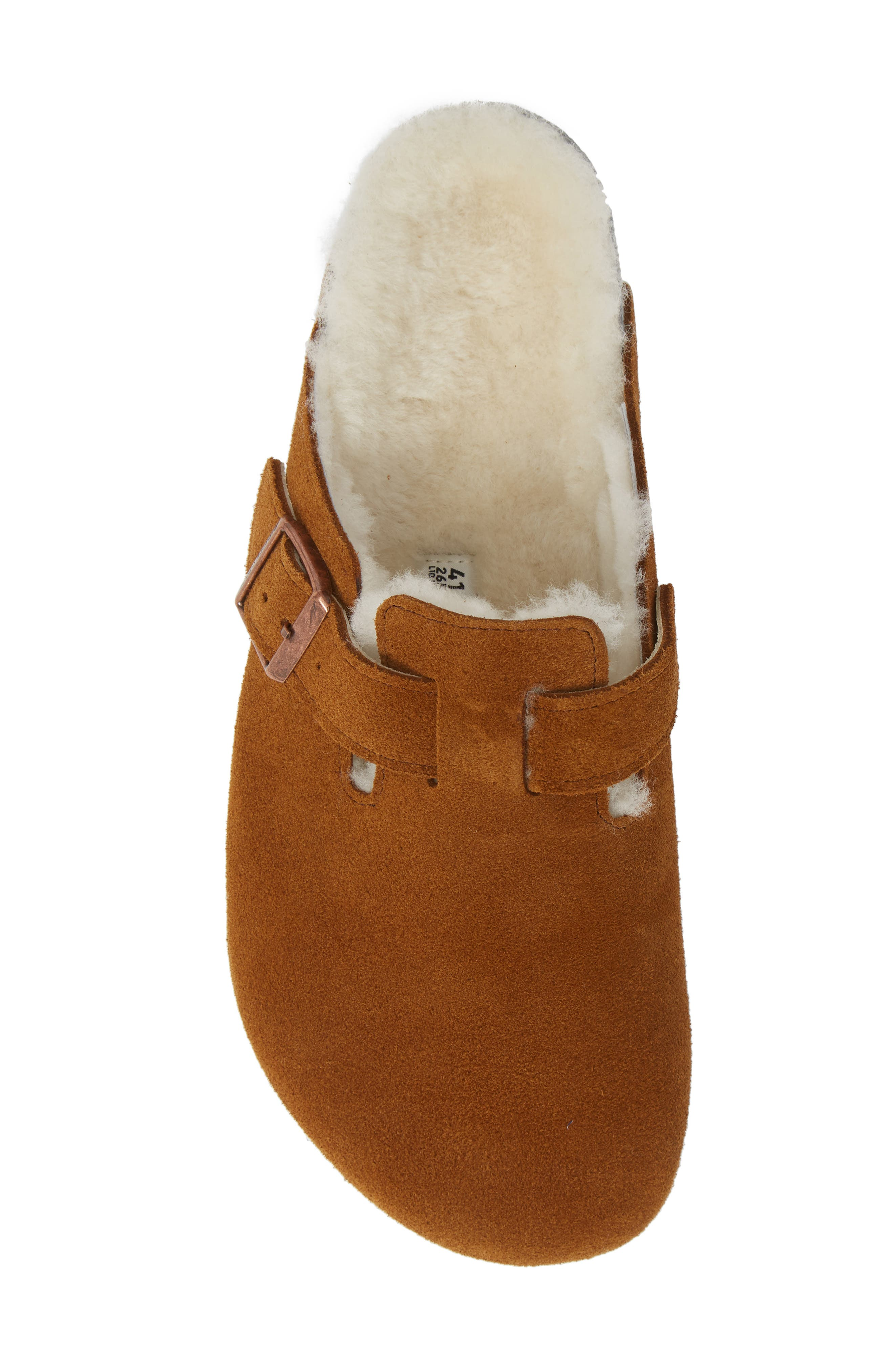 Boston Slip-On with Genuine Shearling Lining,                             Alternate thumbnail 5, color,                             BEIGE